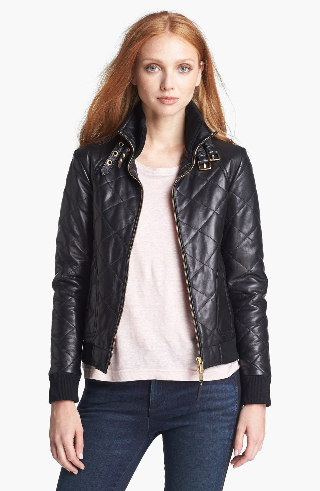 Alternate Image 1 Selected - MARC BY MARC JACOBS 'Kent' Quilted Leather Jacket