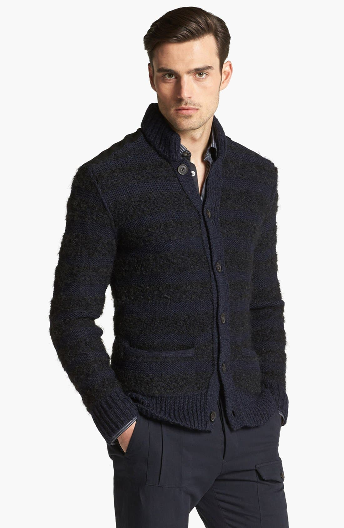 Alternate Image 1 Selected - John Varvatos Collection Chunky Knit Sweater