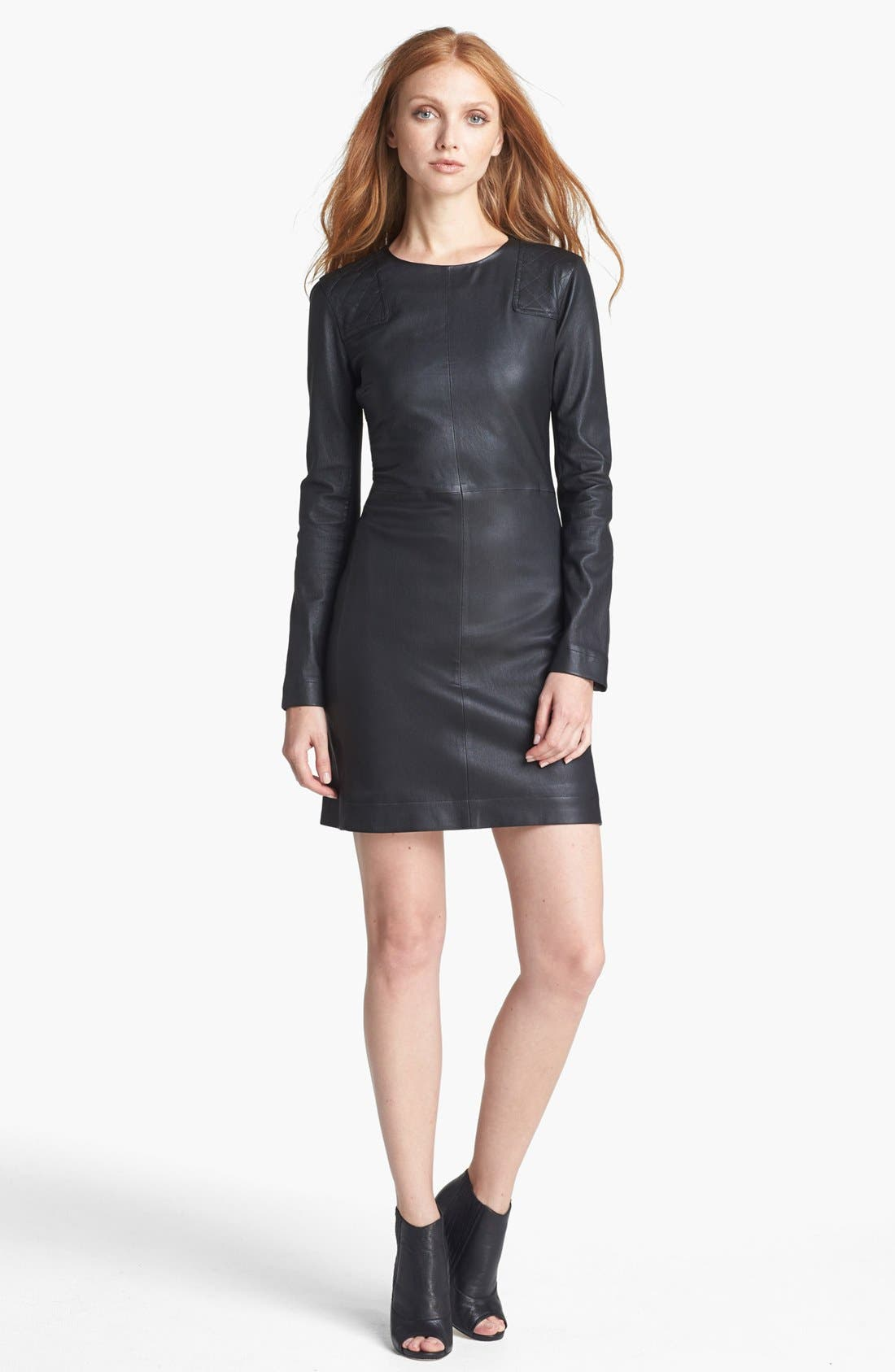 Alternate Image 1 Selected - MARC BY MARC JACOBS 'Lena' Leather Sheath Dress
