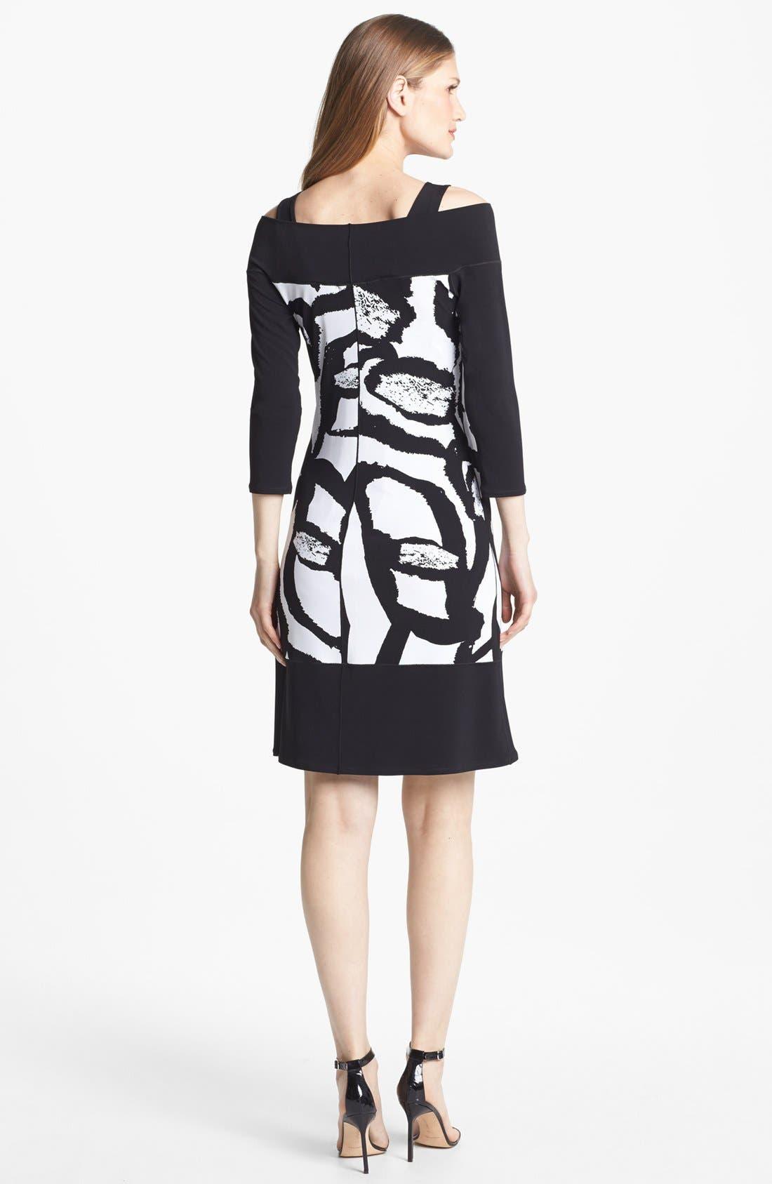 Alternate Image 2  - Eva Varro Three Quarter Sleeve Print Knit Dress