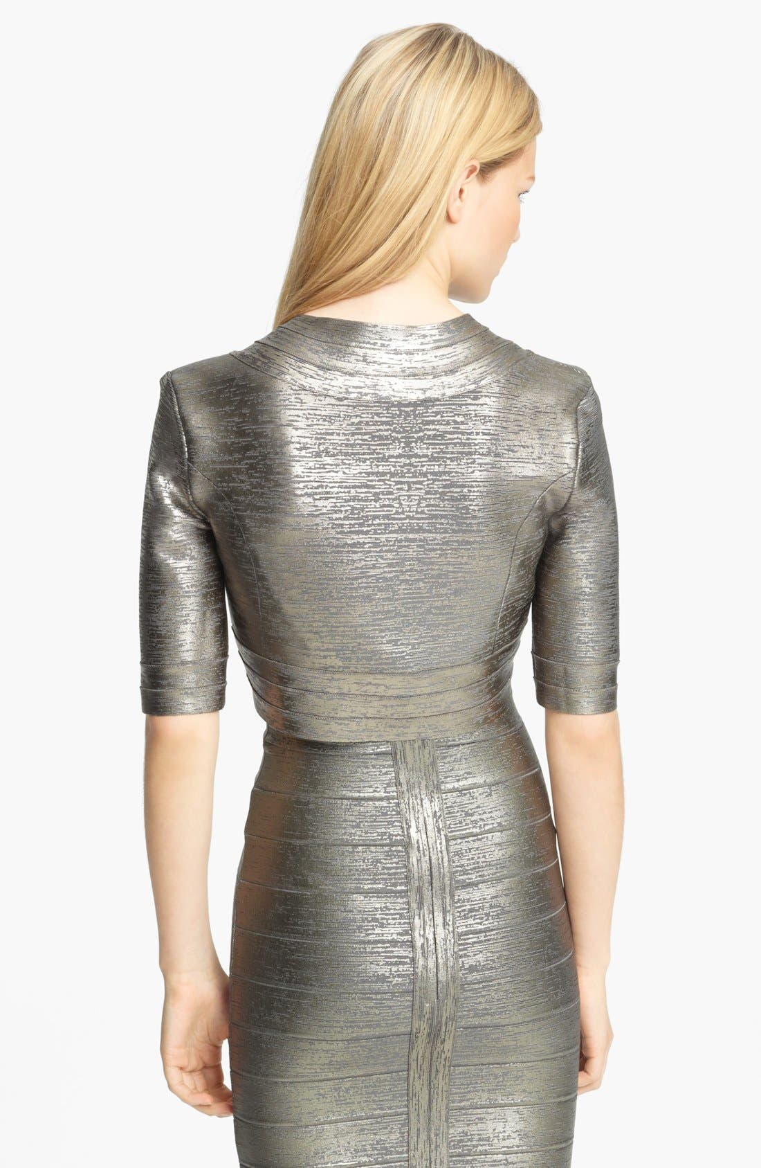 Alternate Image 3  - Herve Leger Foiled Shrug