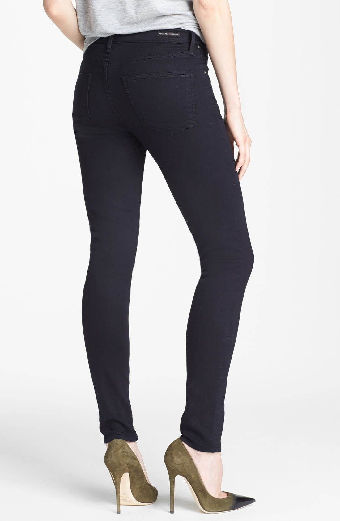Alternate Image 2  - Citizens of Humanity 'Rocket' Skinny Jeans (Black Diamond)