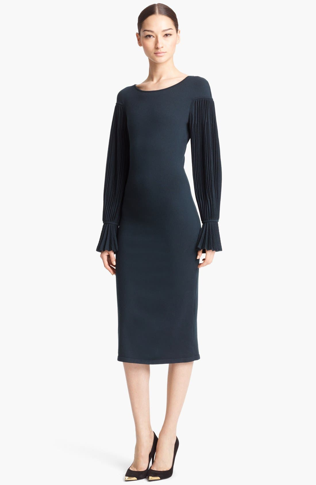 Alternate Image 1 Selected - Alexander McQueen Pleated Sleeve Dress