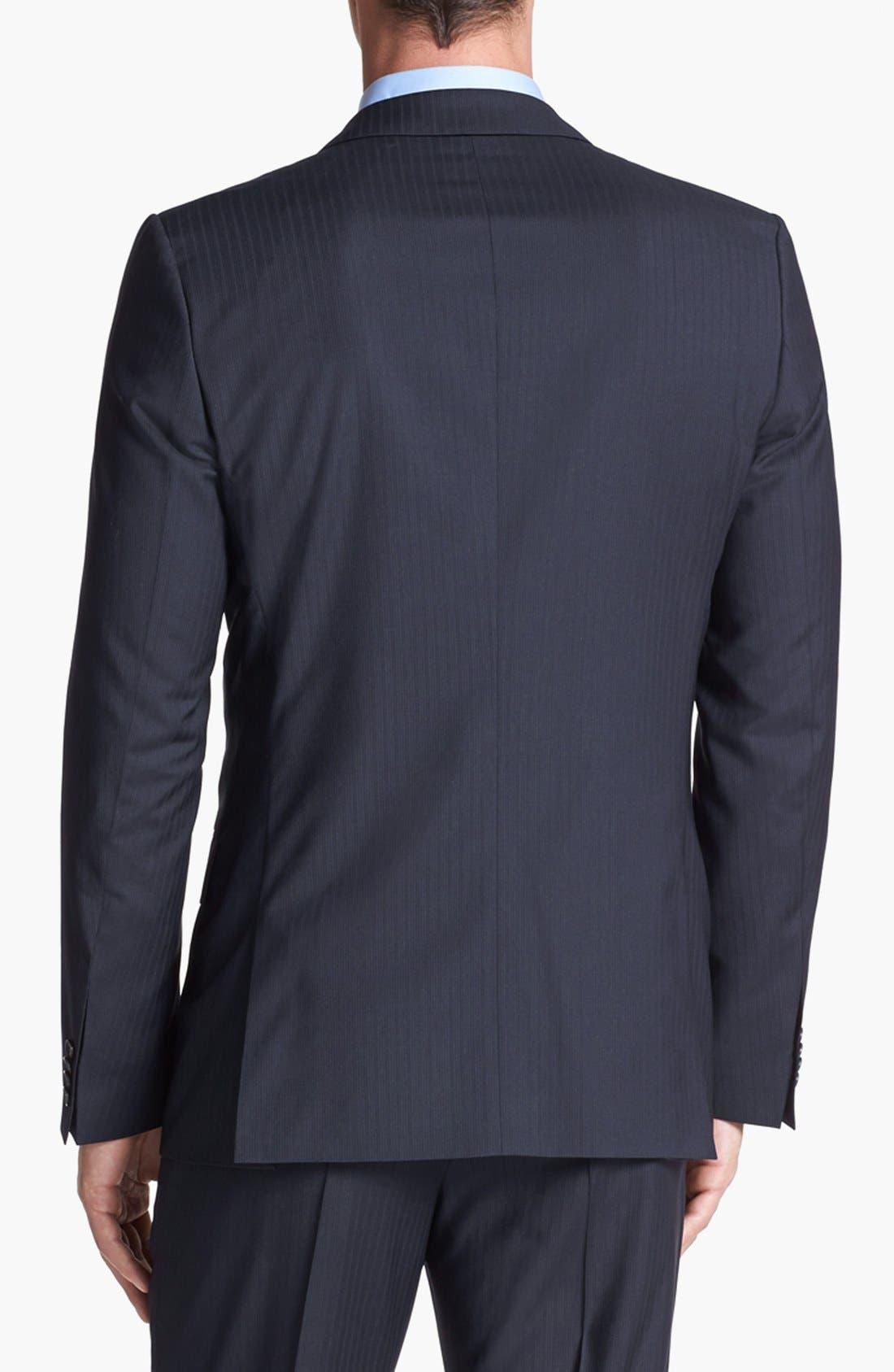 Alternate Image 6  - HUGO 'Amaro/Heise' Trim Fit Stripe Suit