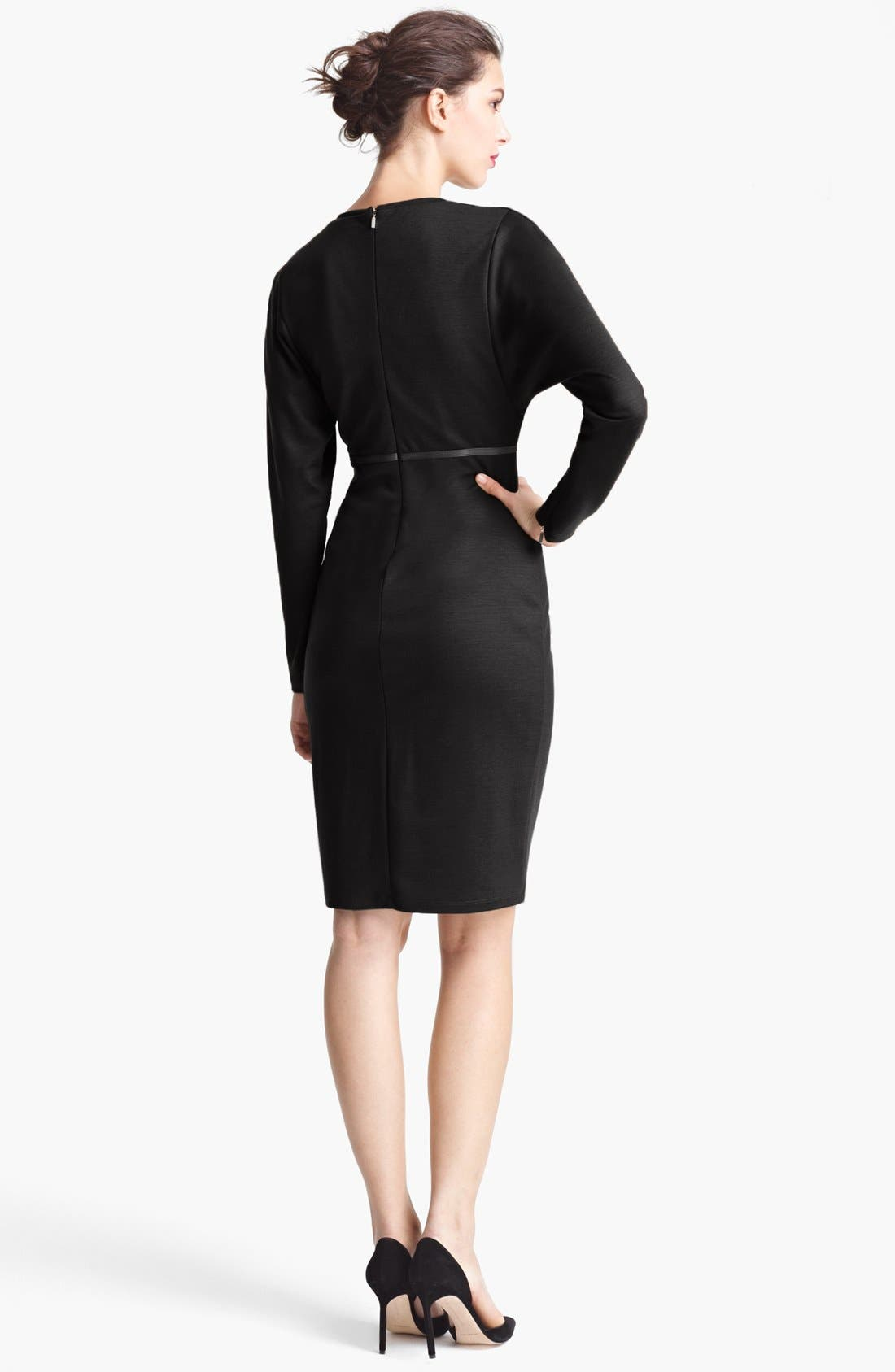 Alternate Image 2  - Max Mara Crewneck Virgin Wool Dress