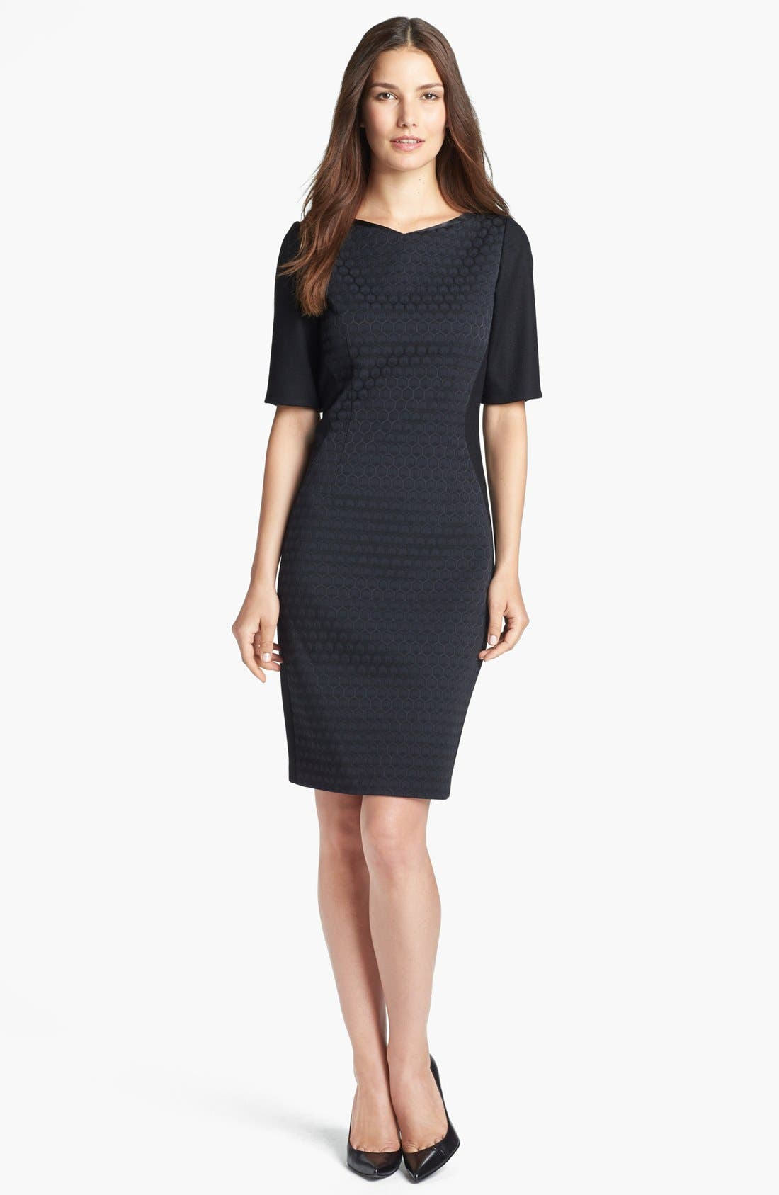Alternate Image 1 Selected - Elie Tahari 'Mila' Elbow Sleeve Dress
