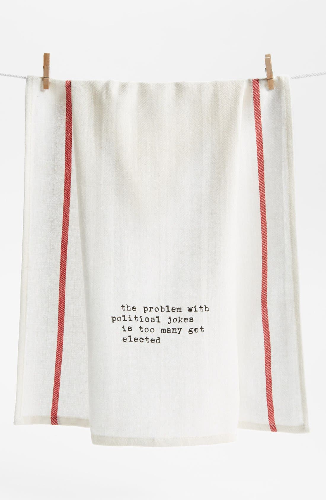 Main Image - Second Nature By Hand 'Political Jokes' Towel