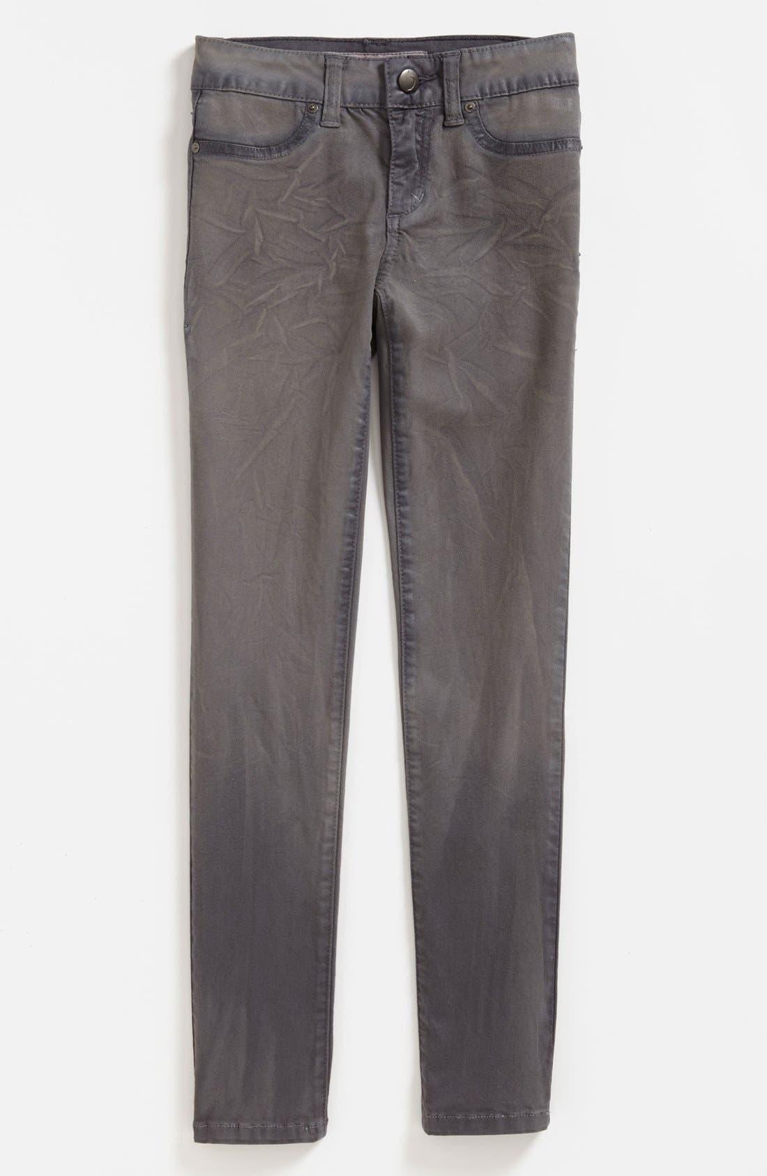 Alternate Image 2  - Joe's Waxed Skinny Jeans (Big Girls)