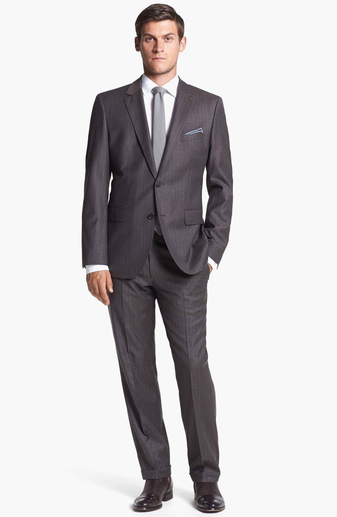 Alternate Image 3  - The Tie Bar Solid Wool Blend Skinny Tie