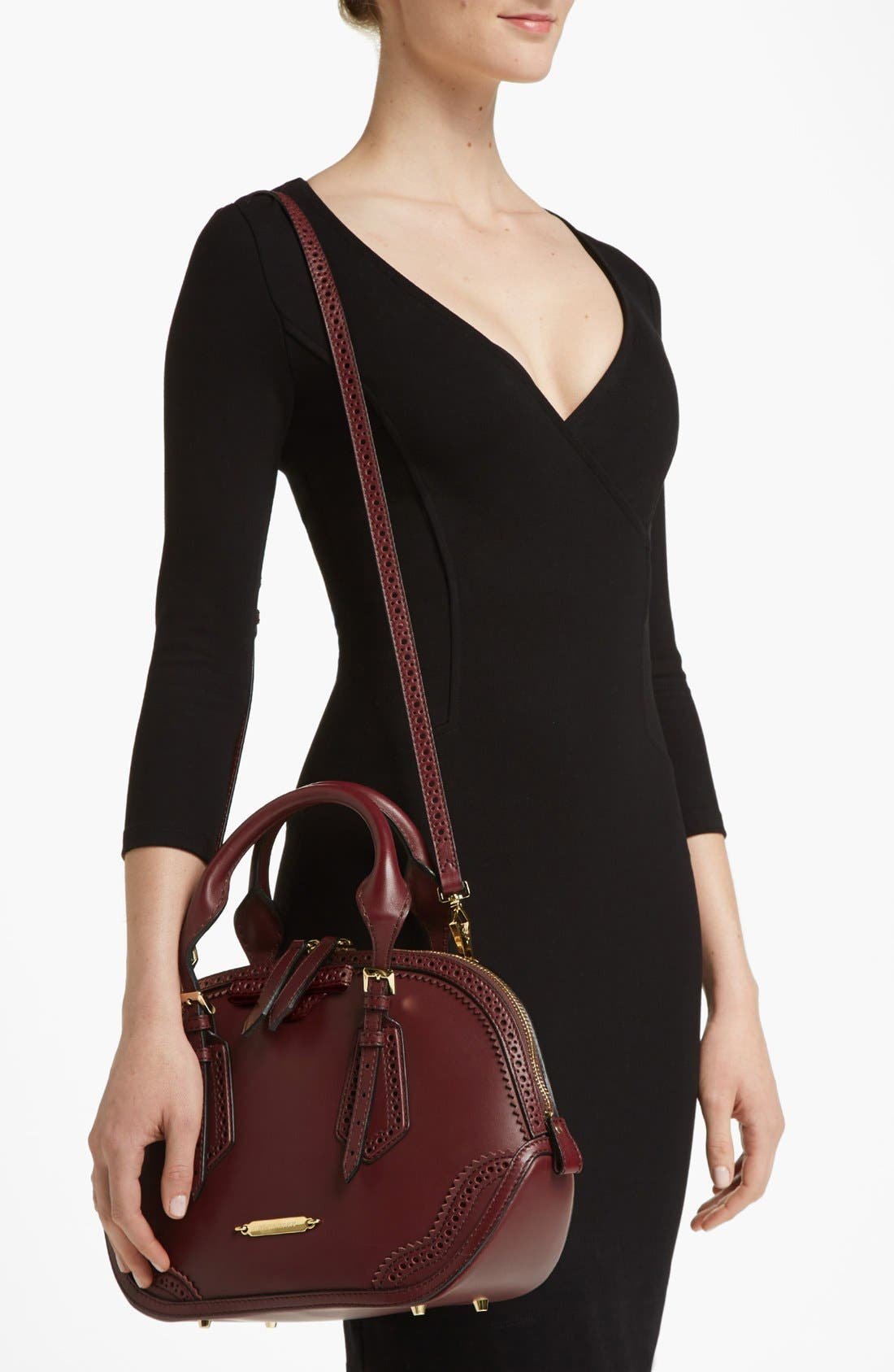 Alternate Image 2  - Burberry 'Orchard - Small' Brogued Leather Satchel