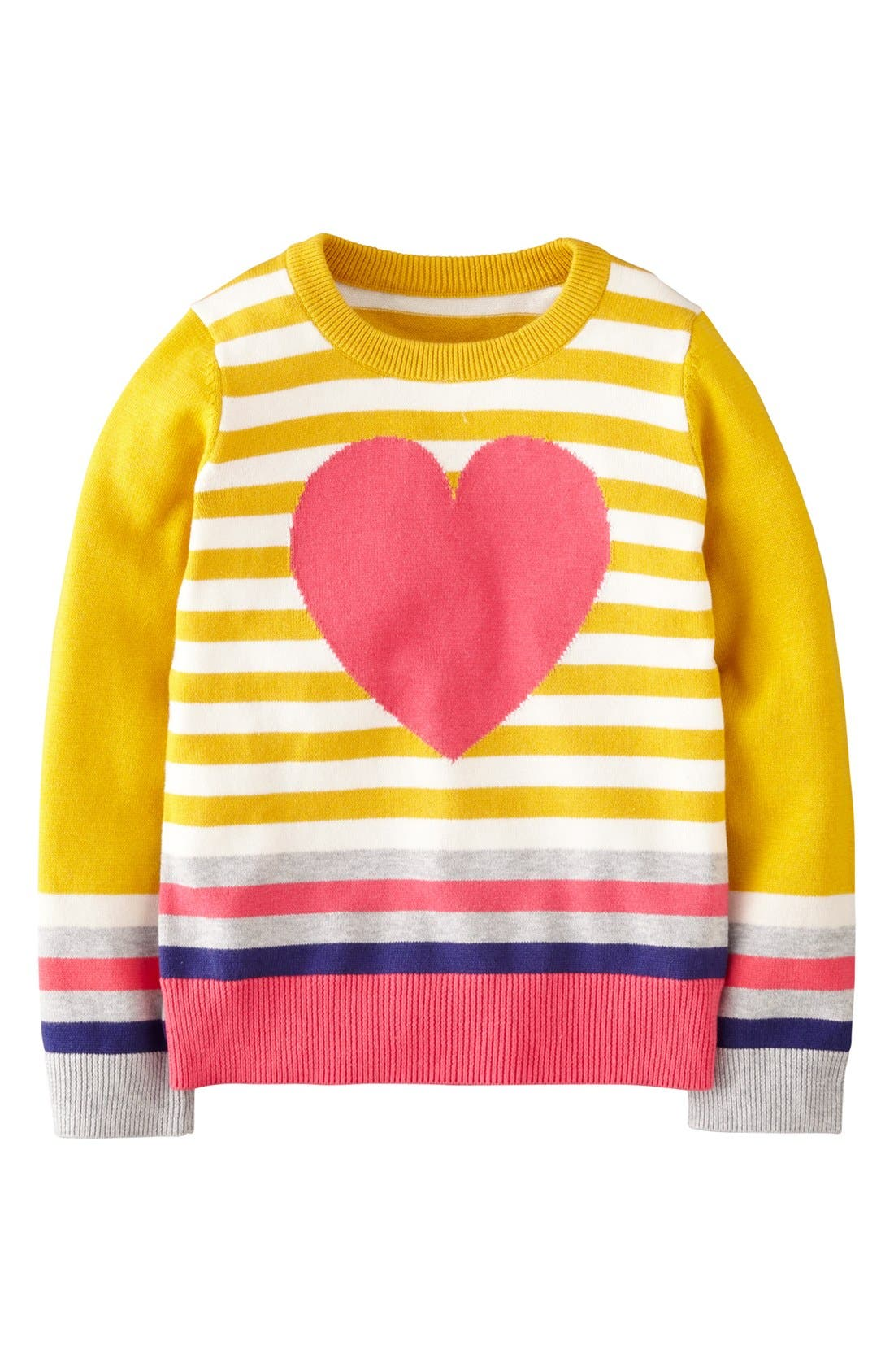 Alternate Image 1 Selected - Mini Boden Intarsia Sweater (Toddler Girls, Little Girls & Big Girls)