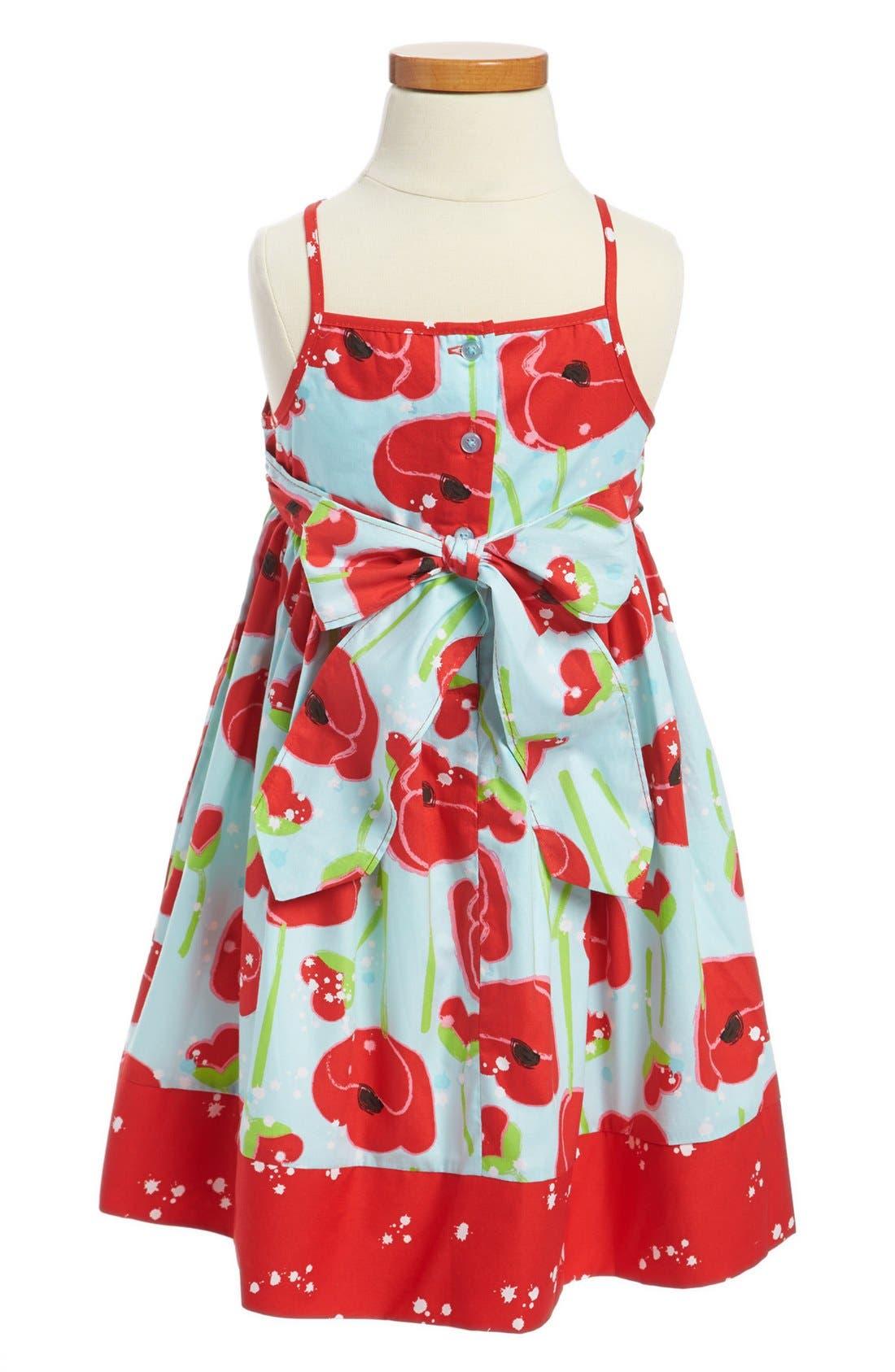 Alternate Image 2  - Marmelatta Pansy Print Surplice Dress