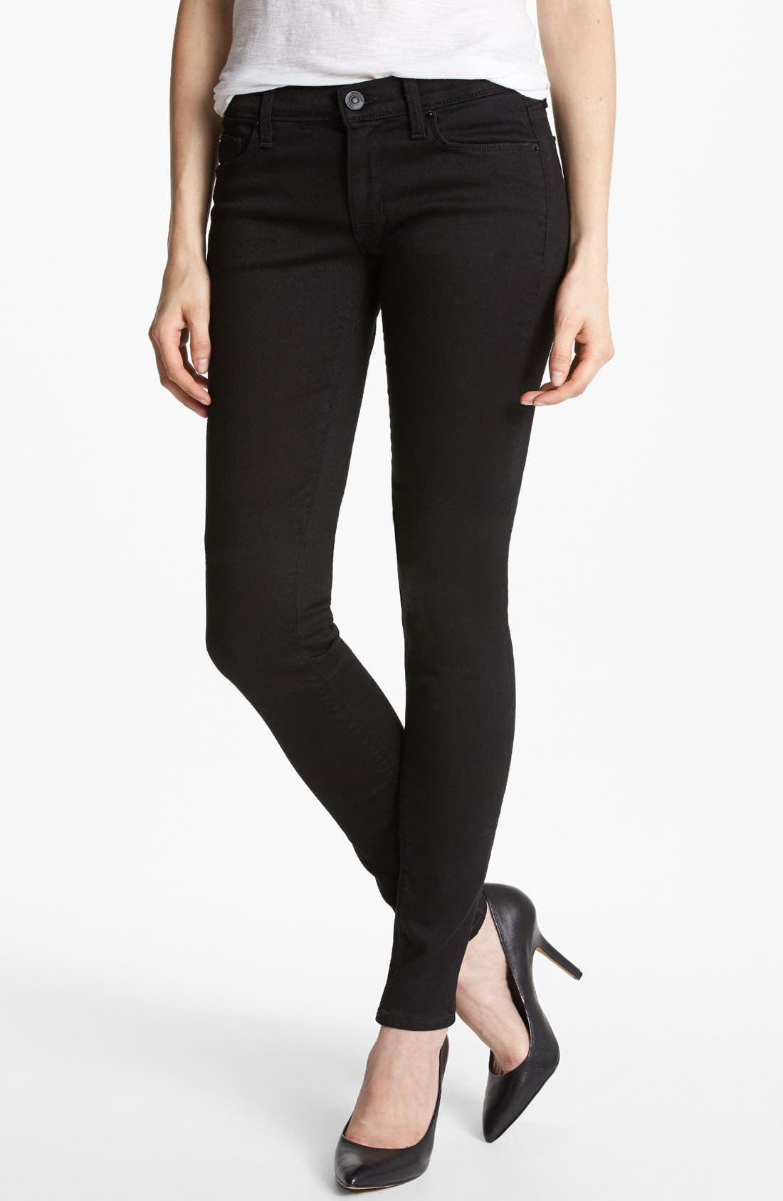 Alternate Image 1 Selected - Hudson Jeans 'Krista Supermodel' Skinny Jeans (Black)
