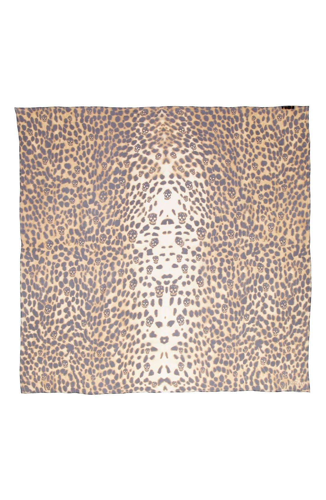 Alternate Image 2  - Alexander McQueen 'Leopard Skull' Chiffon Scarf