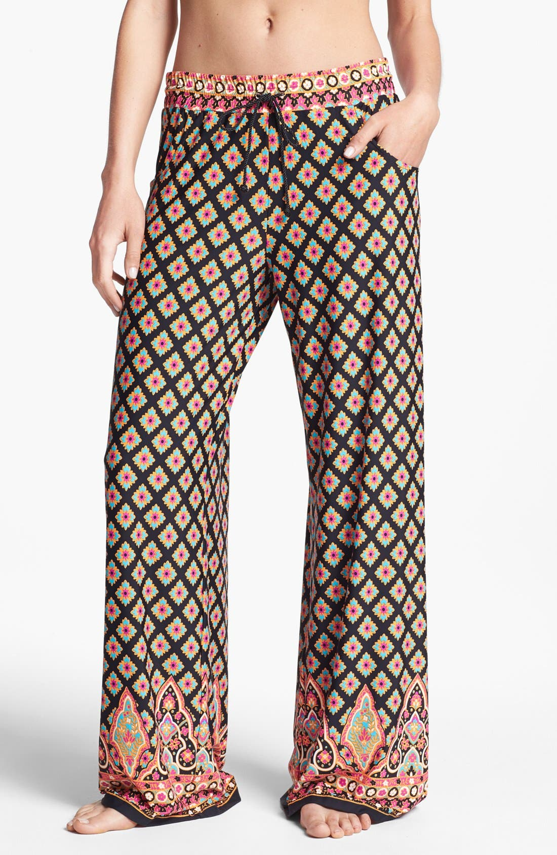 Alternate Image 1 Selected - Nanette Lepore 'Moroccan Medallion' Beach Pants