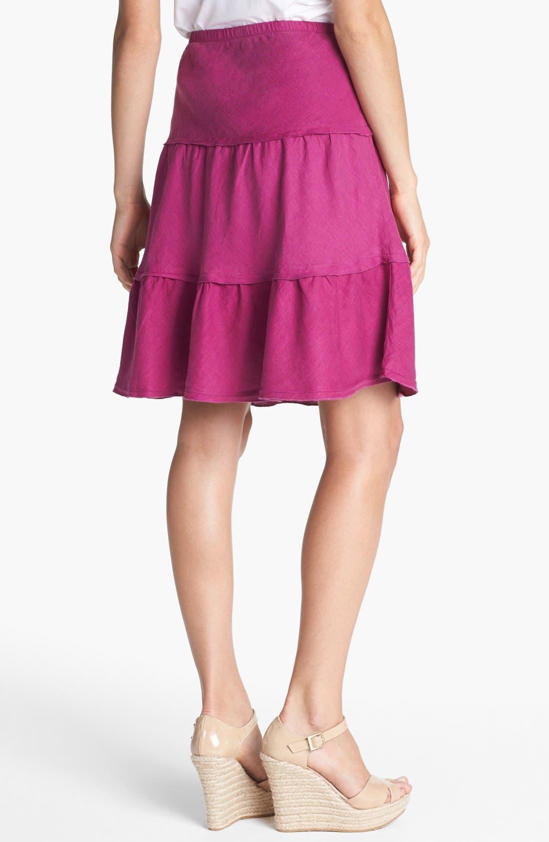 Alternate Image 2  - Allen Allen Tiered Linen Skirt