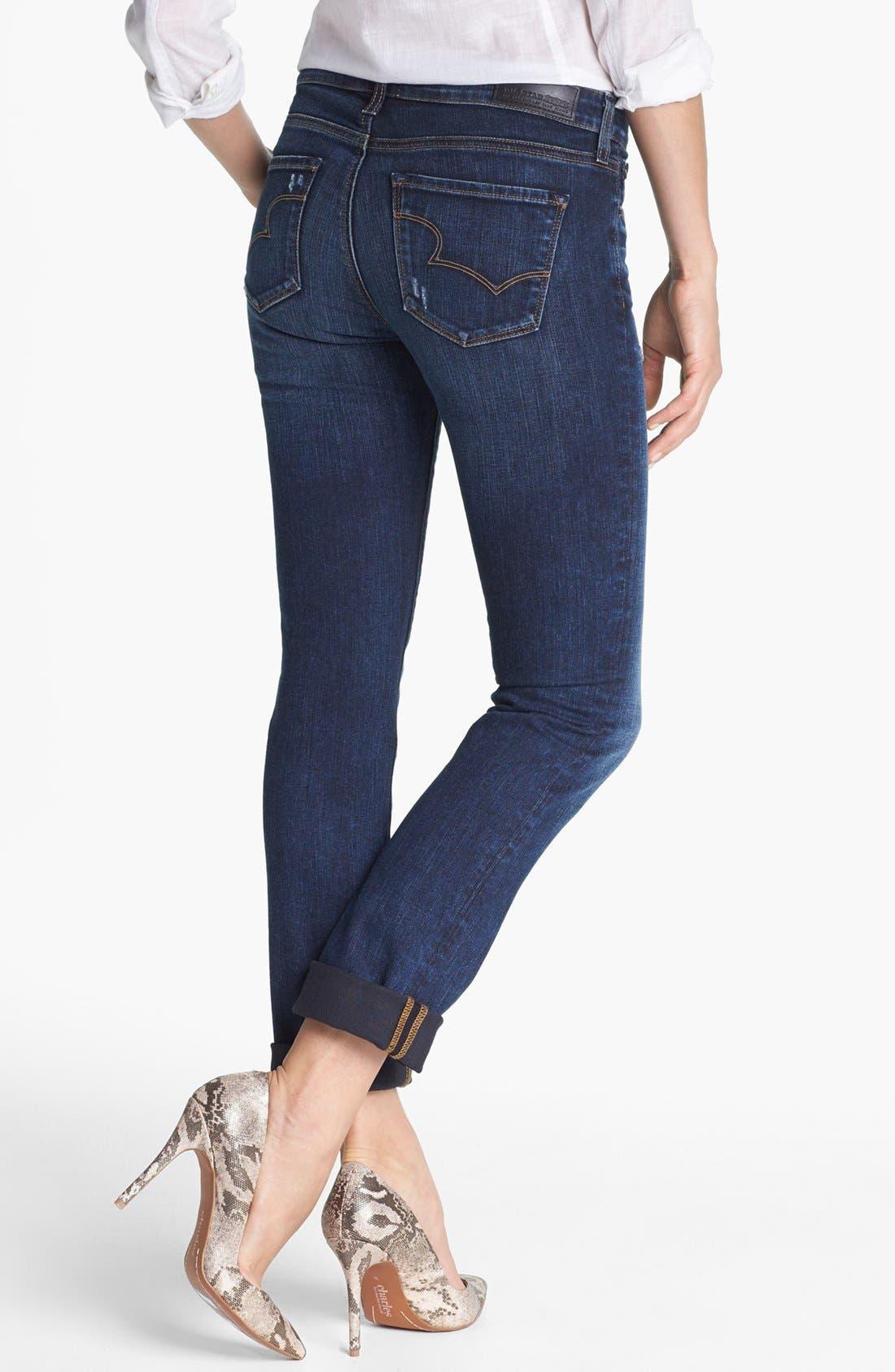 Alternate Image 2  - Big Star 'Kate' Distressed Straight Leg Jeans (Three Year Malibu) (Petite)