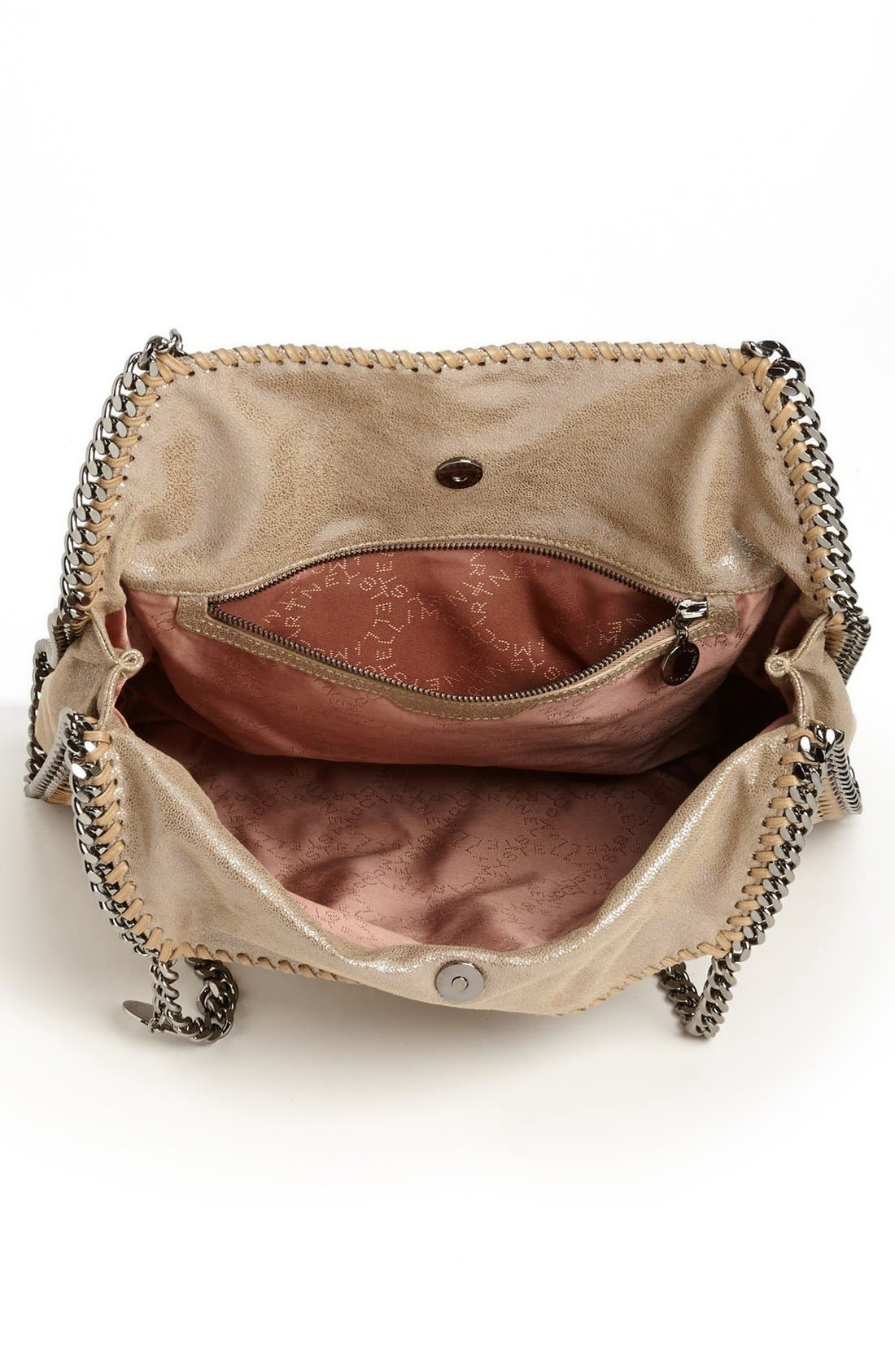 'Small Falabella' Faux Leather Tote,                             Alternate thumbnail 4, color,                             Redwood