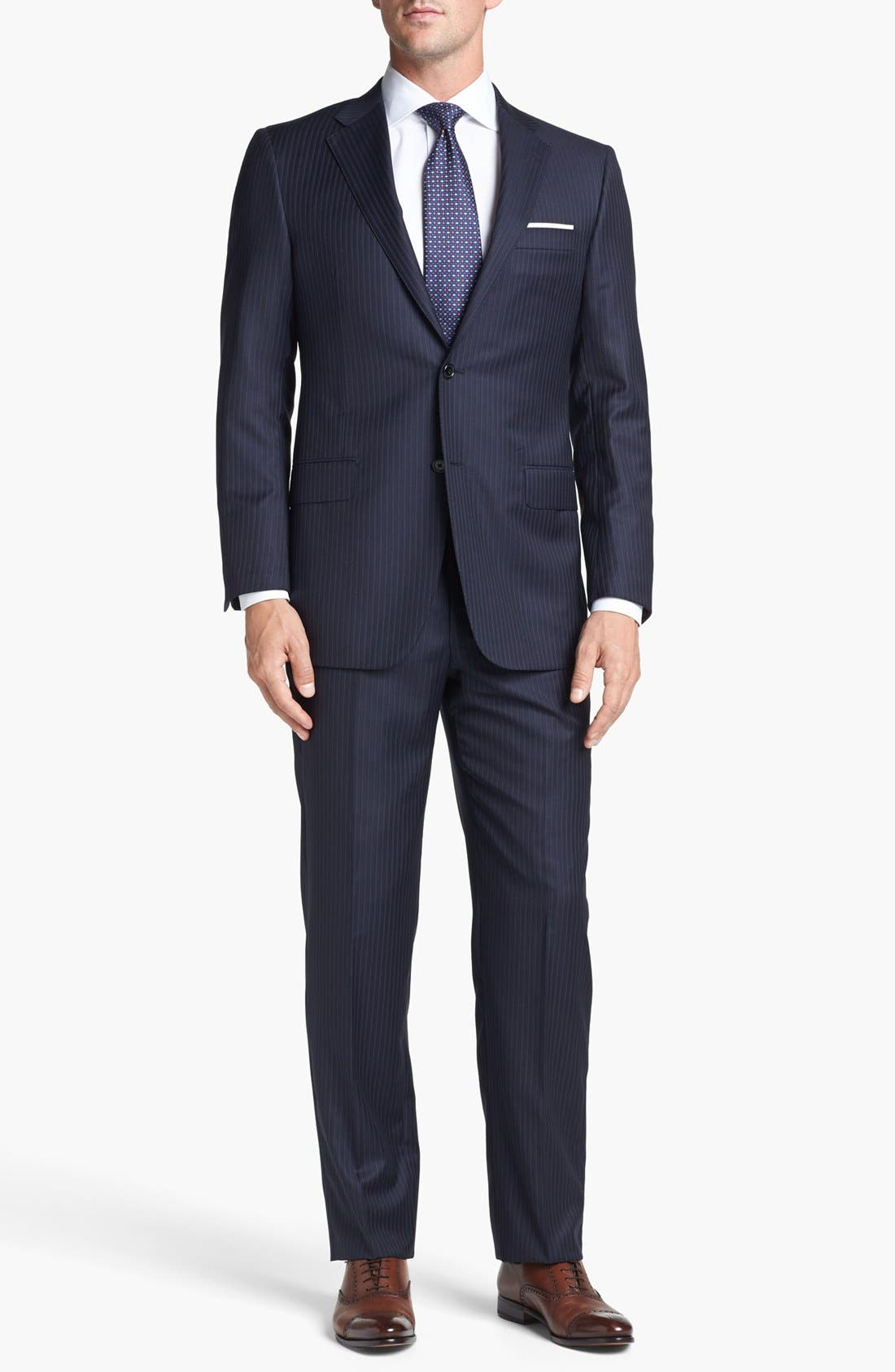 Alternate Image 1 Selected - Hickey Freeman 'B Series' Classic Fit Stripe Suit