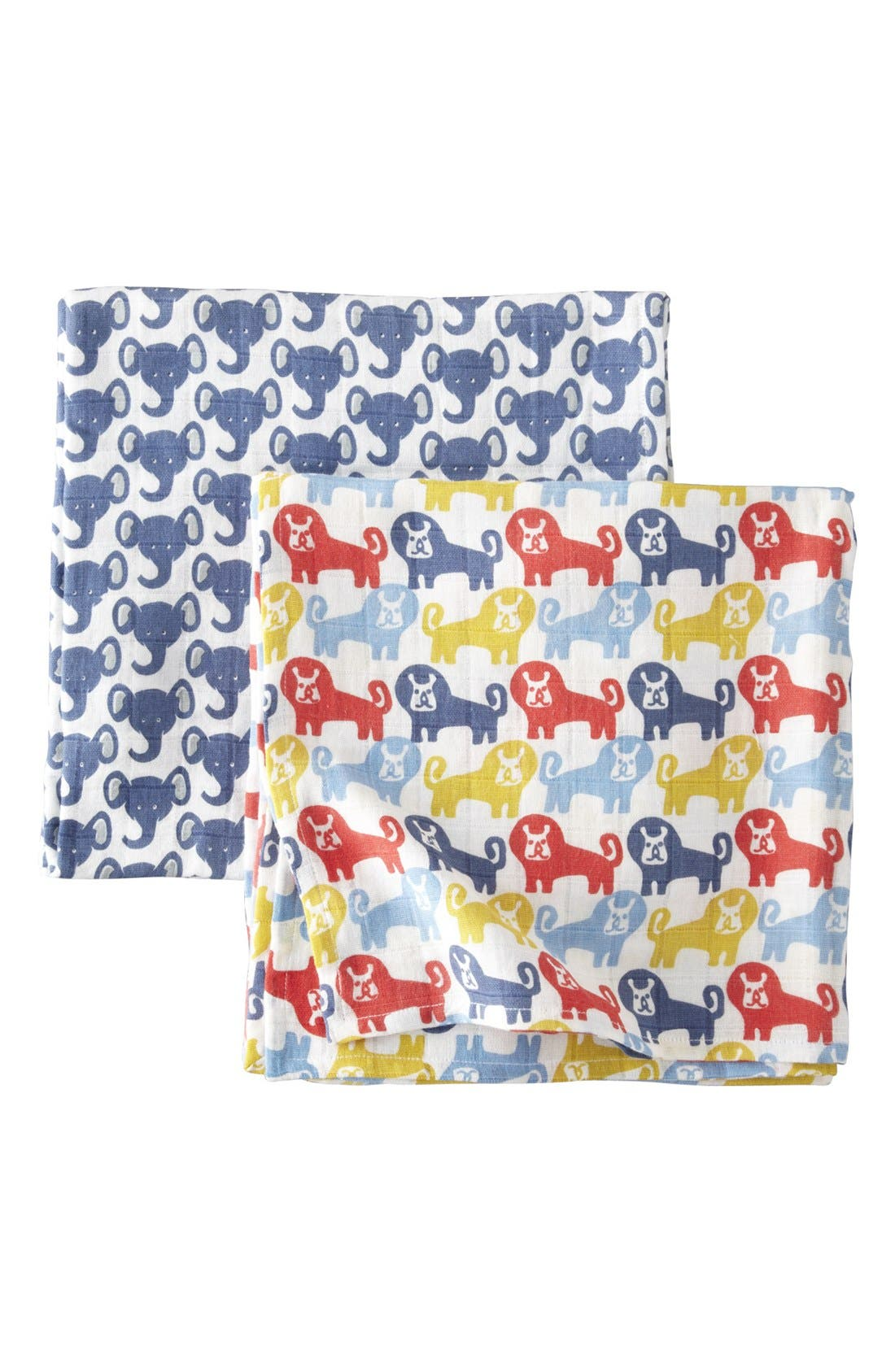 Alternate Image 1 Selected - Mini Boden Large Muslin Swaddling Cloths (2-Pack)