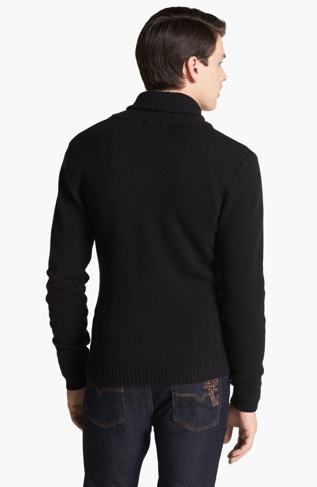 Alternate Image 2  - Versace Shawl Collar Sweater