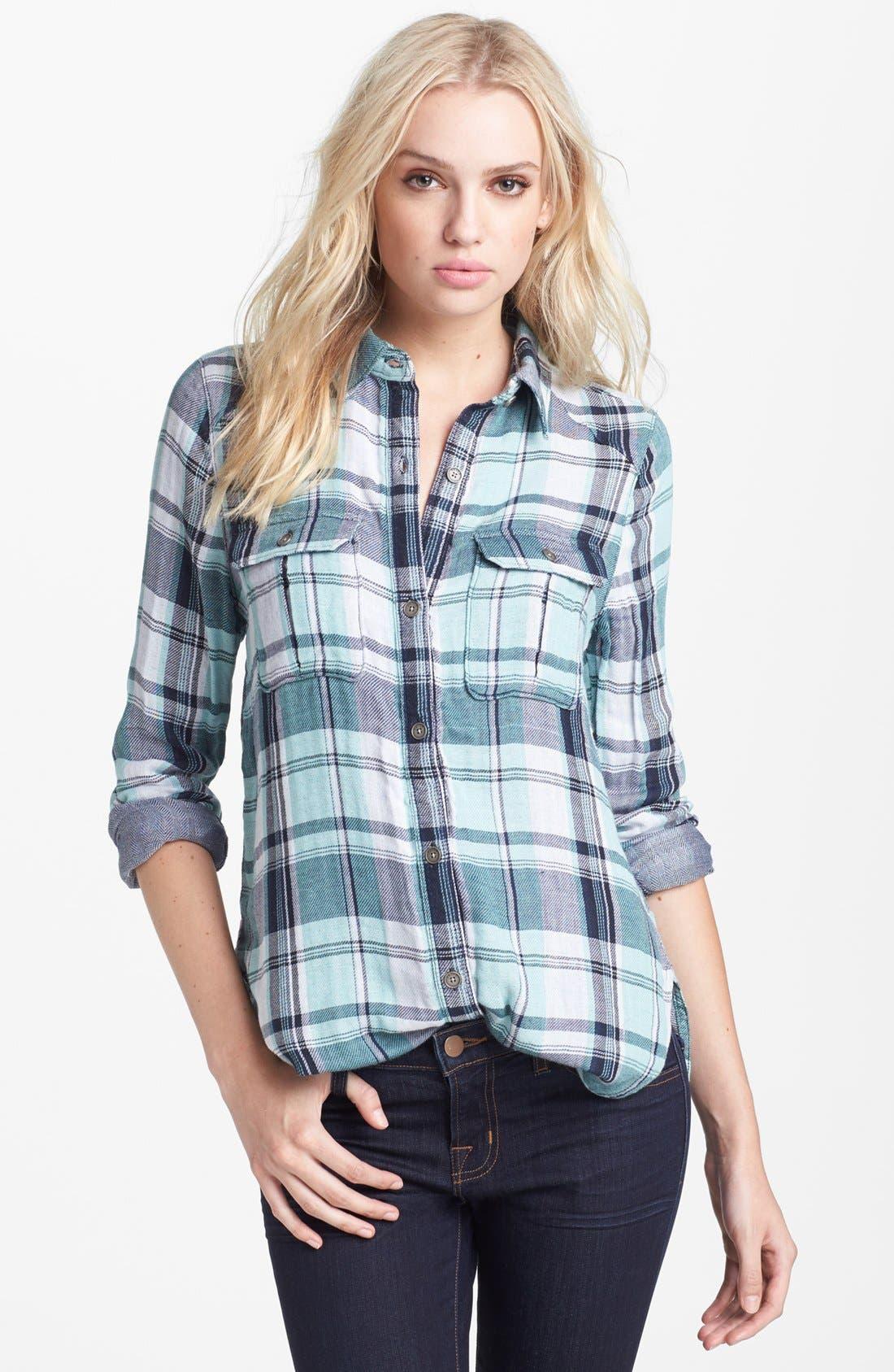 Alternate Image 1 Selected - Paige Denim 'Kadie' Plaid Shirt