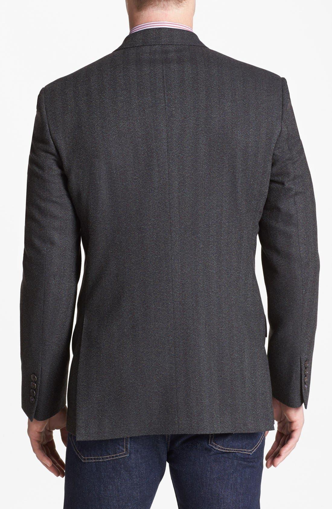 Alternate Image 3  - Ted Baker London 'Jim' Trim Fit Herringbone Sportcoat
