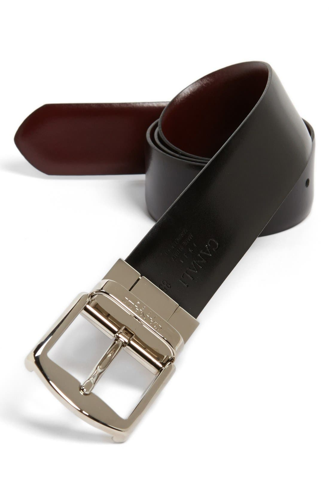 Alternate Image 2  - Canali 'Unito' Reversible Leather Belt