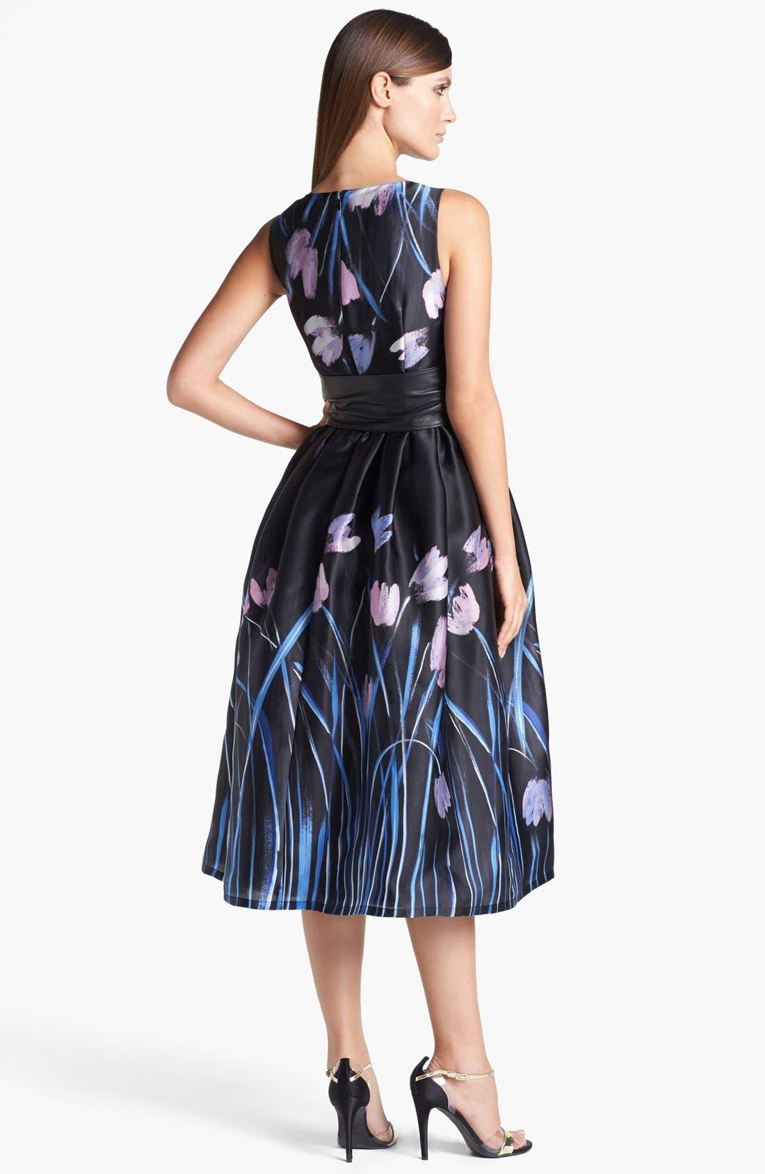 Alternate Image 2  - St. John Collection Tulip Print Organza Dress