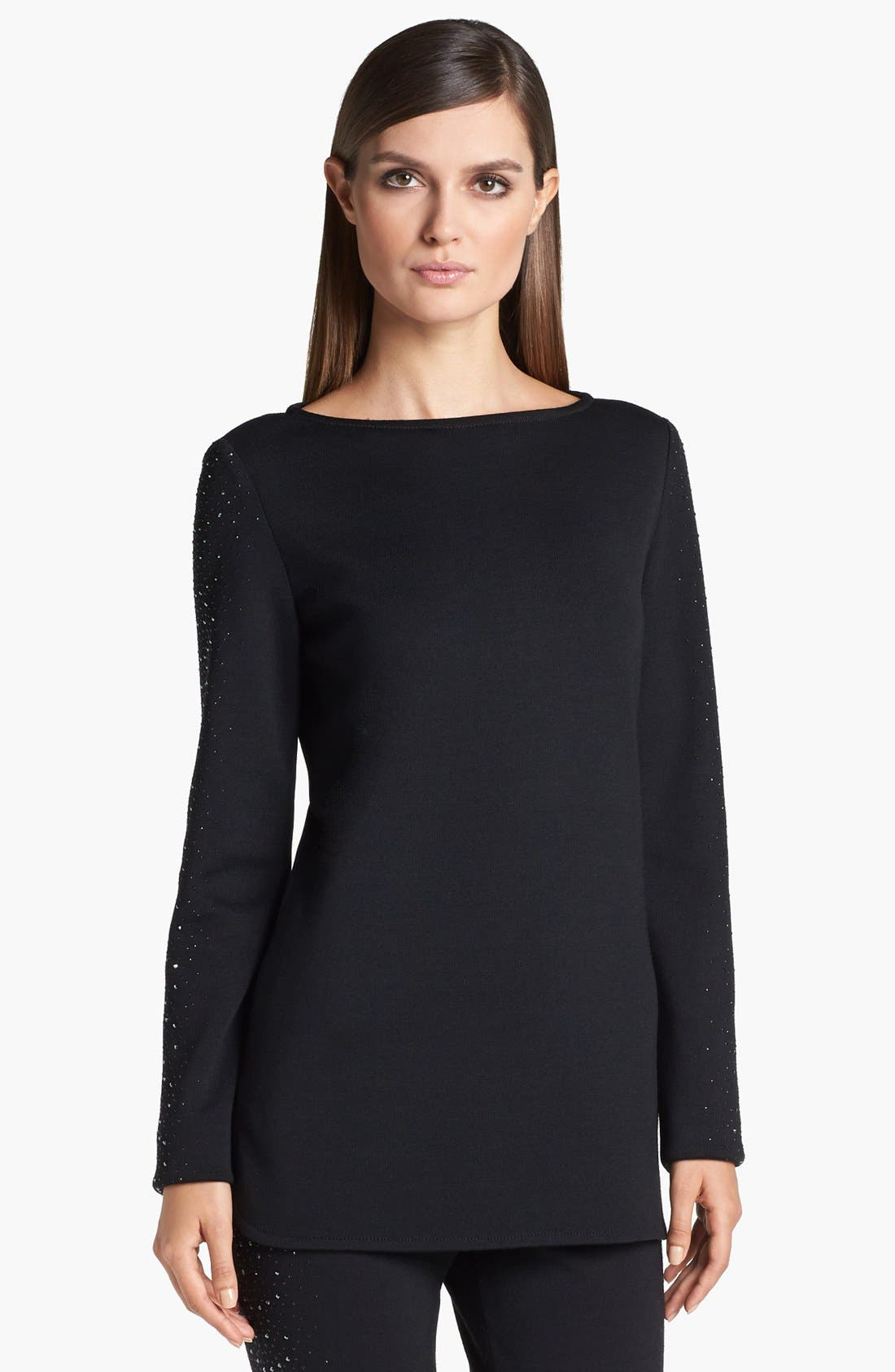 Main Image - St. John Collection Bead Embellished Milano Knit Tunic