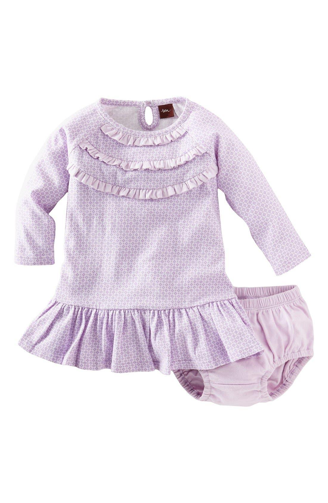 Main Image - Tea Collection 'Diamond' Dress & Bloomers (Baby Girls)
