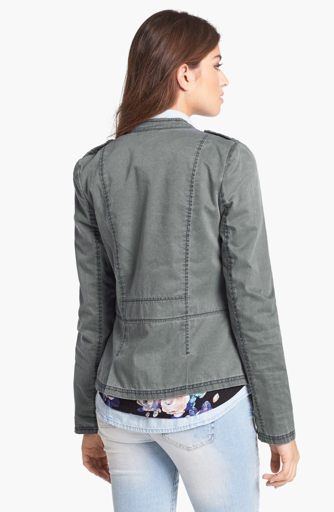 Alternate Image 2  - Rubbish® Denim Peplum Jacket (Juniors)