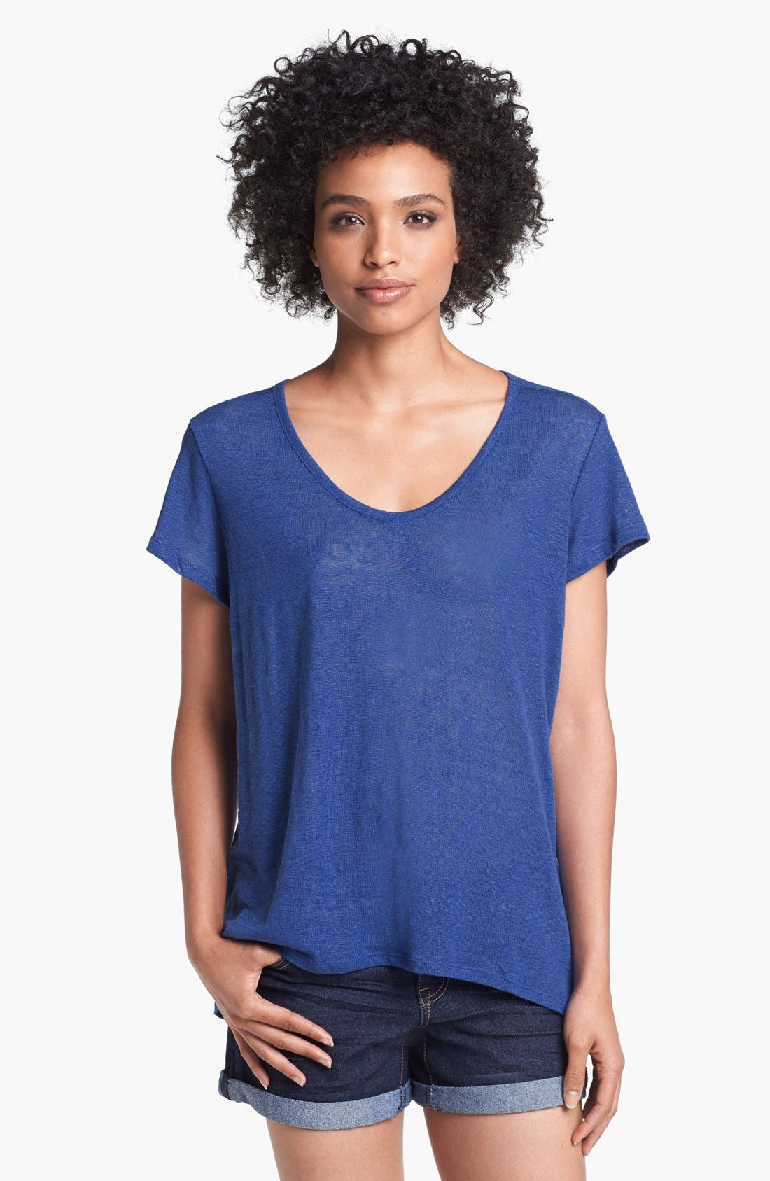 Main Image - Olivia Moon Burnout Linen Tee