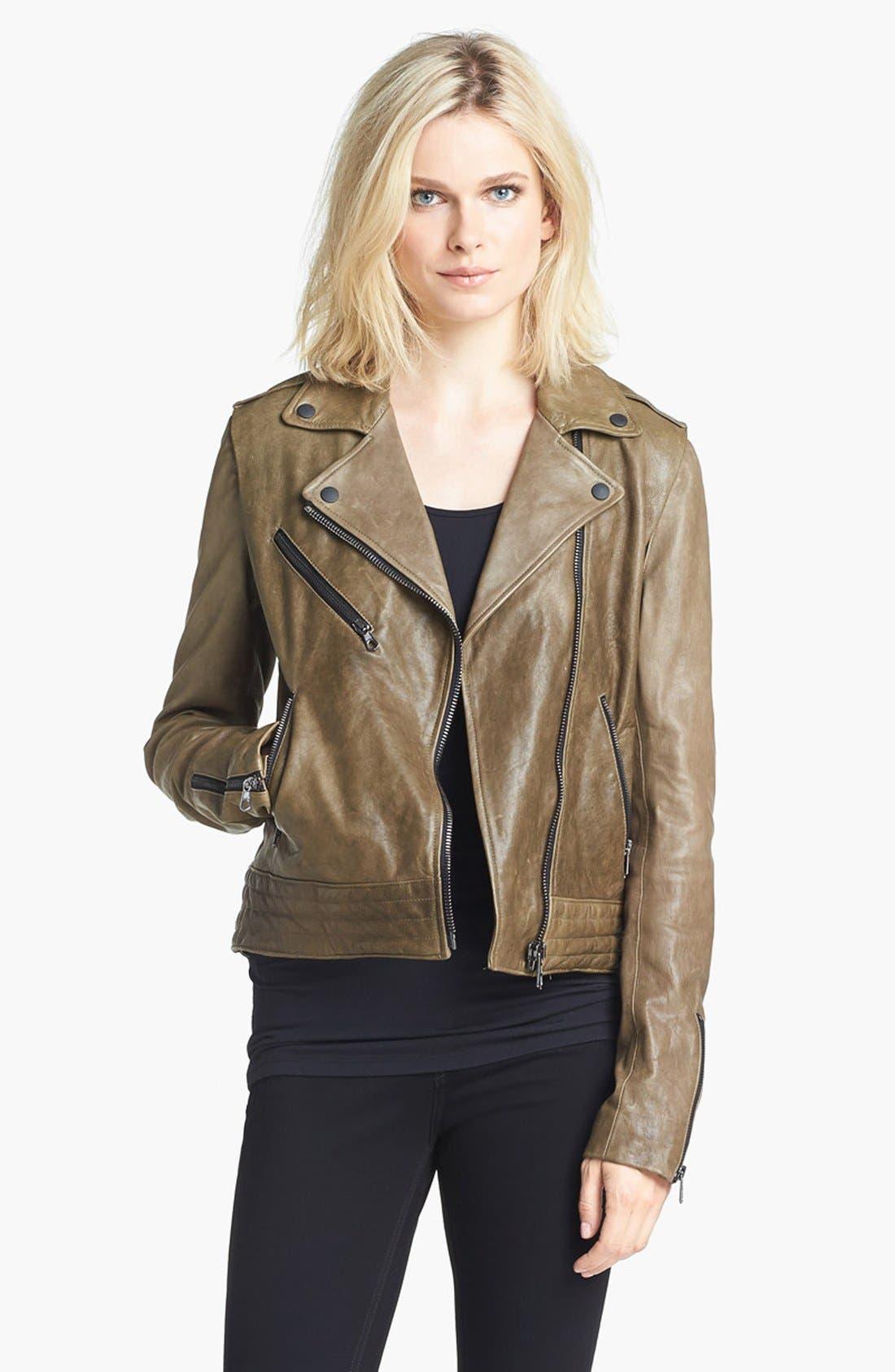 Alternate Image 1 Selected - rag & bone 'Bowery' Leather Moto Jacket