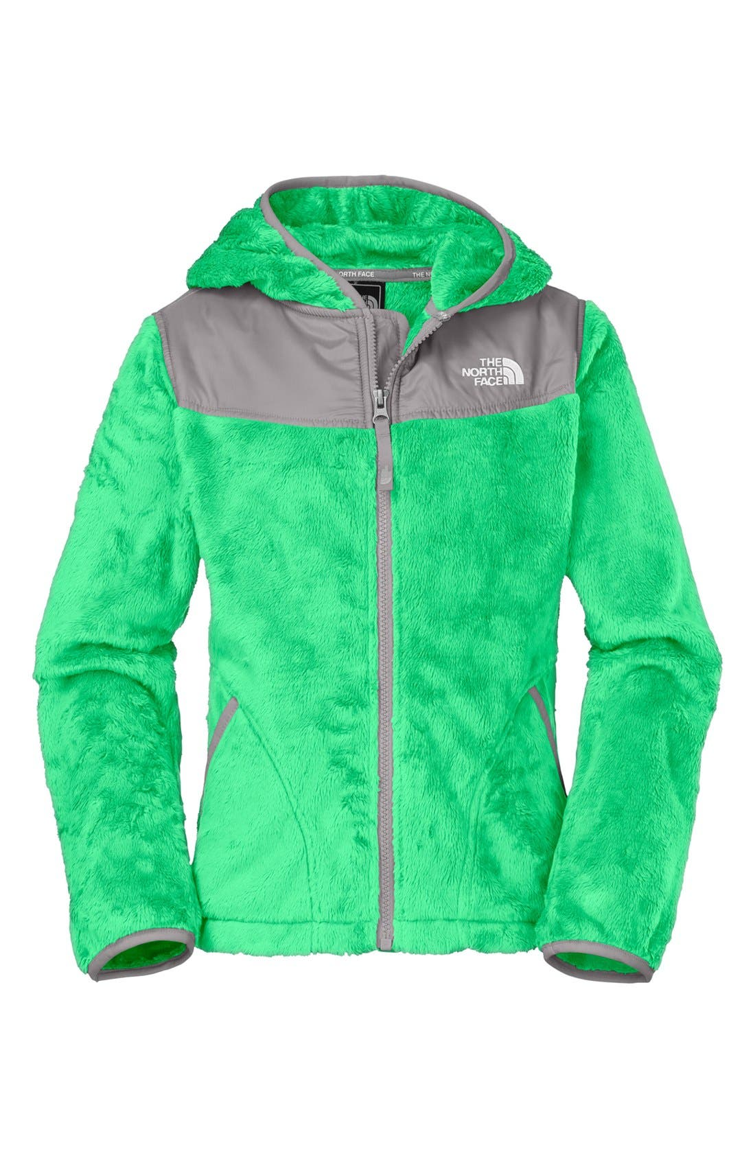 Alternate Image 1 Selected - The North Face 'Oso' Hooded Fleece Jacket (Little Girls & Big Girls)