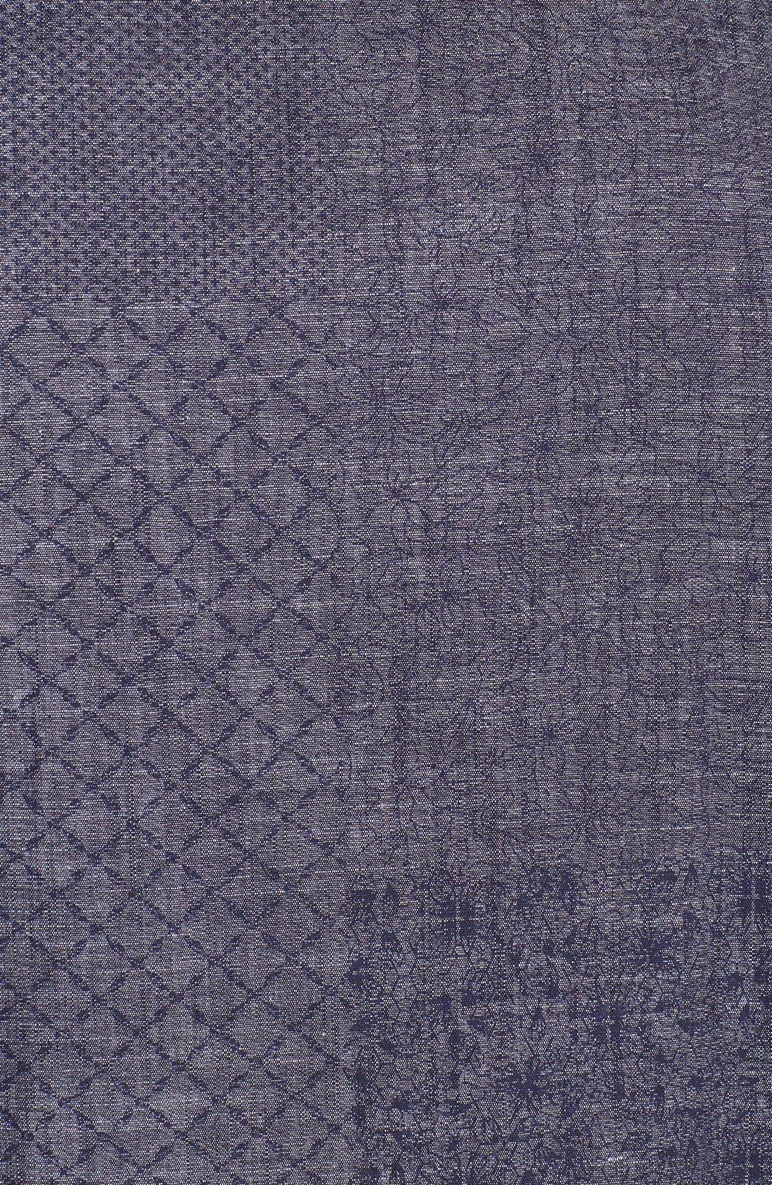 Alternate Image 3  - Topman Mix Print Pattern Chambray Shirt