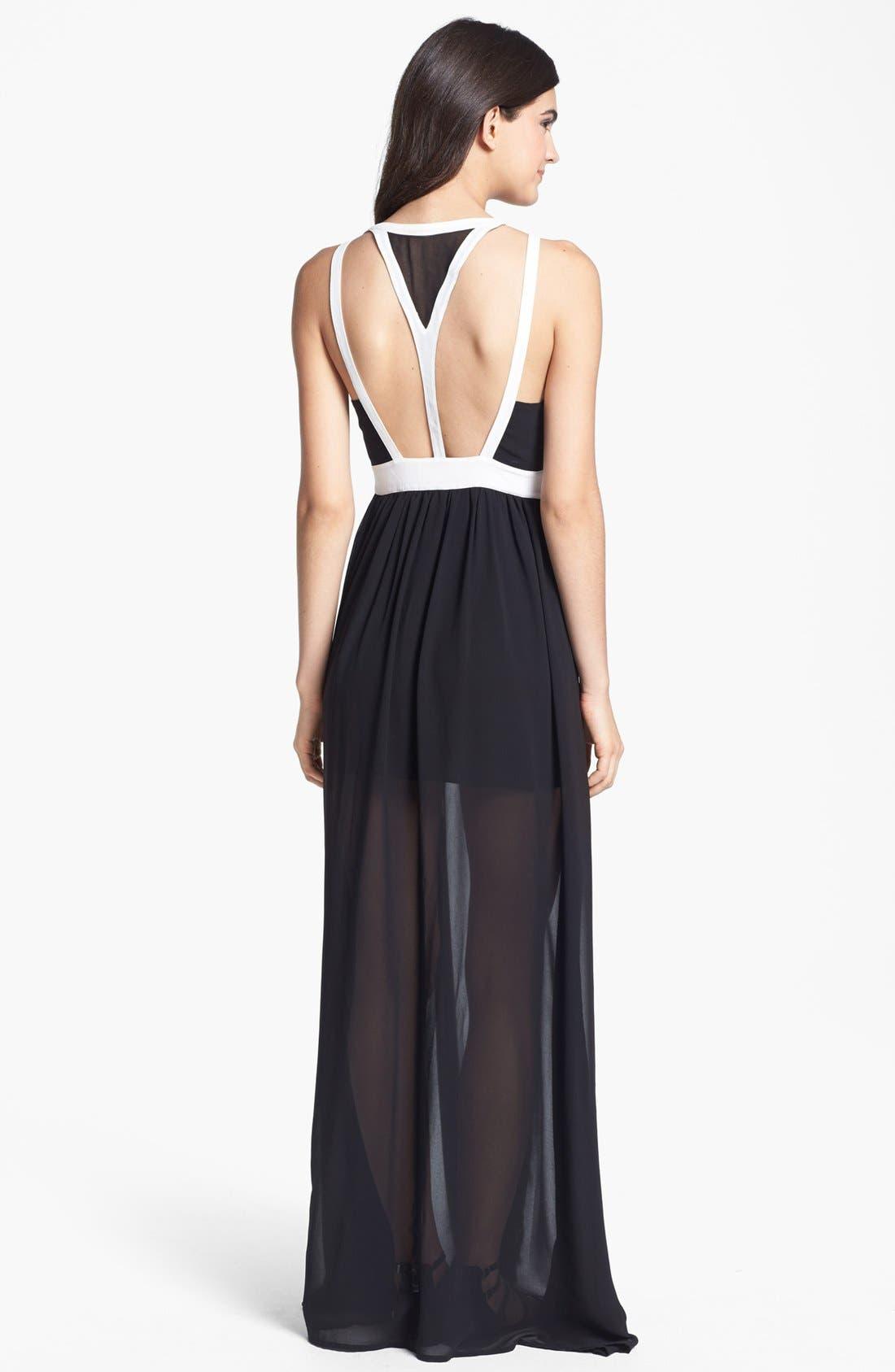 Alternate Image 2  - Keepsake the Label 'Eyes Wide Open' Contrast Trim Maxi Dress