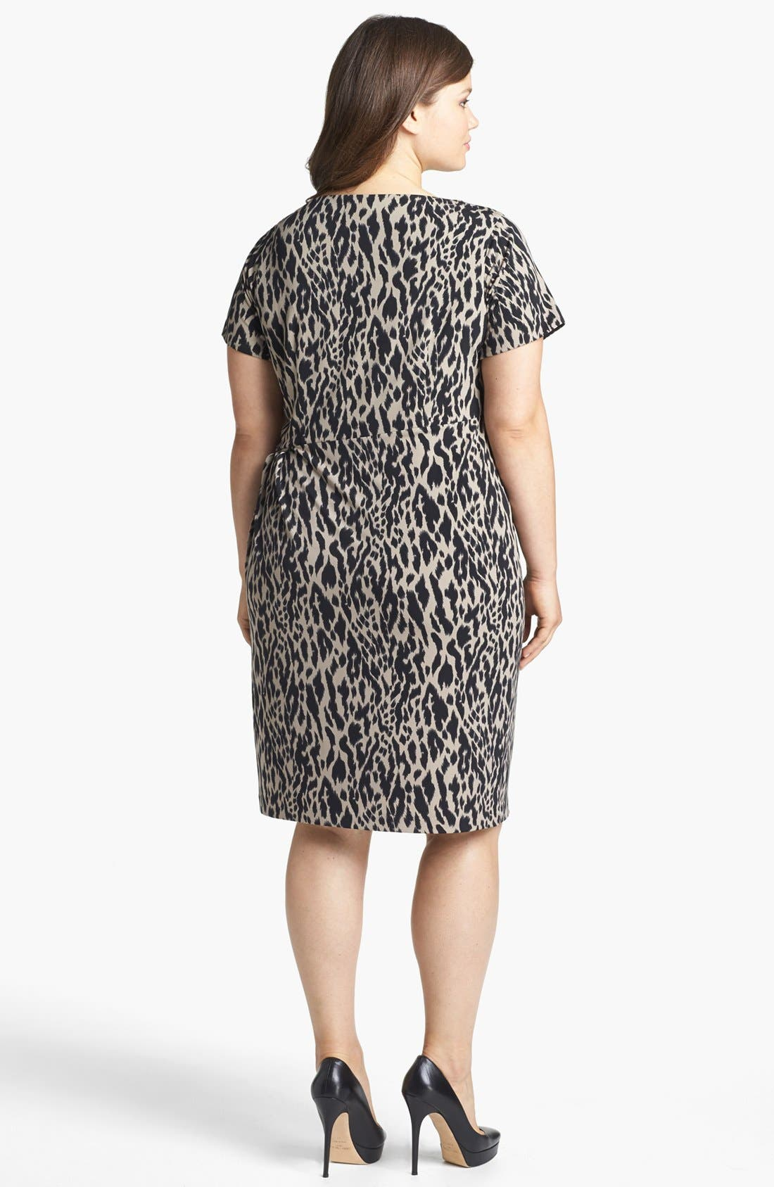 Alternate Image 2  - Vince Camuto Animal Print Ruched Sheath Dress (Plus Size) (Online Only)
