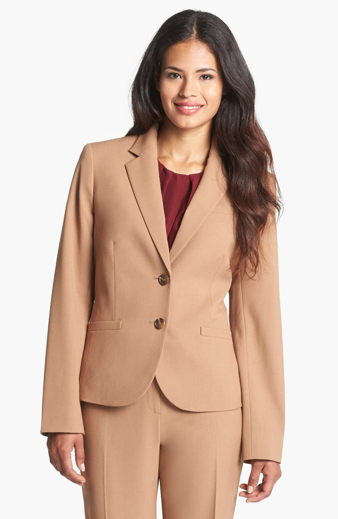 Alternate Image 1 Selected - Jones New York 'Olivia - Seasonless Stretch' Jacket (Regular & Petite)