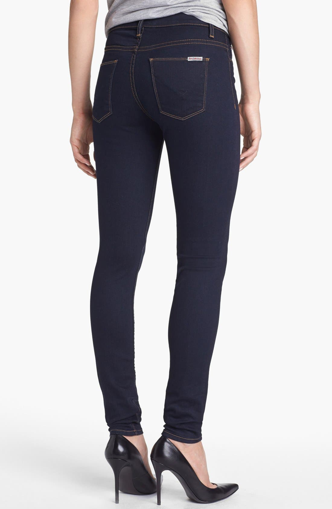 Alternate Image 2  - Hudson Jeans 'Nico' Super Skinny Jeans (Storm)