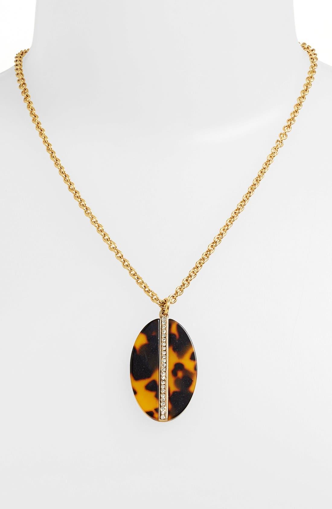 Alternate Image 1 Selected - Lauren Ralph Lauren Oval Pendant Necklace