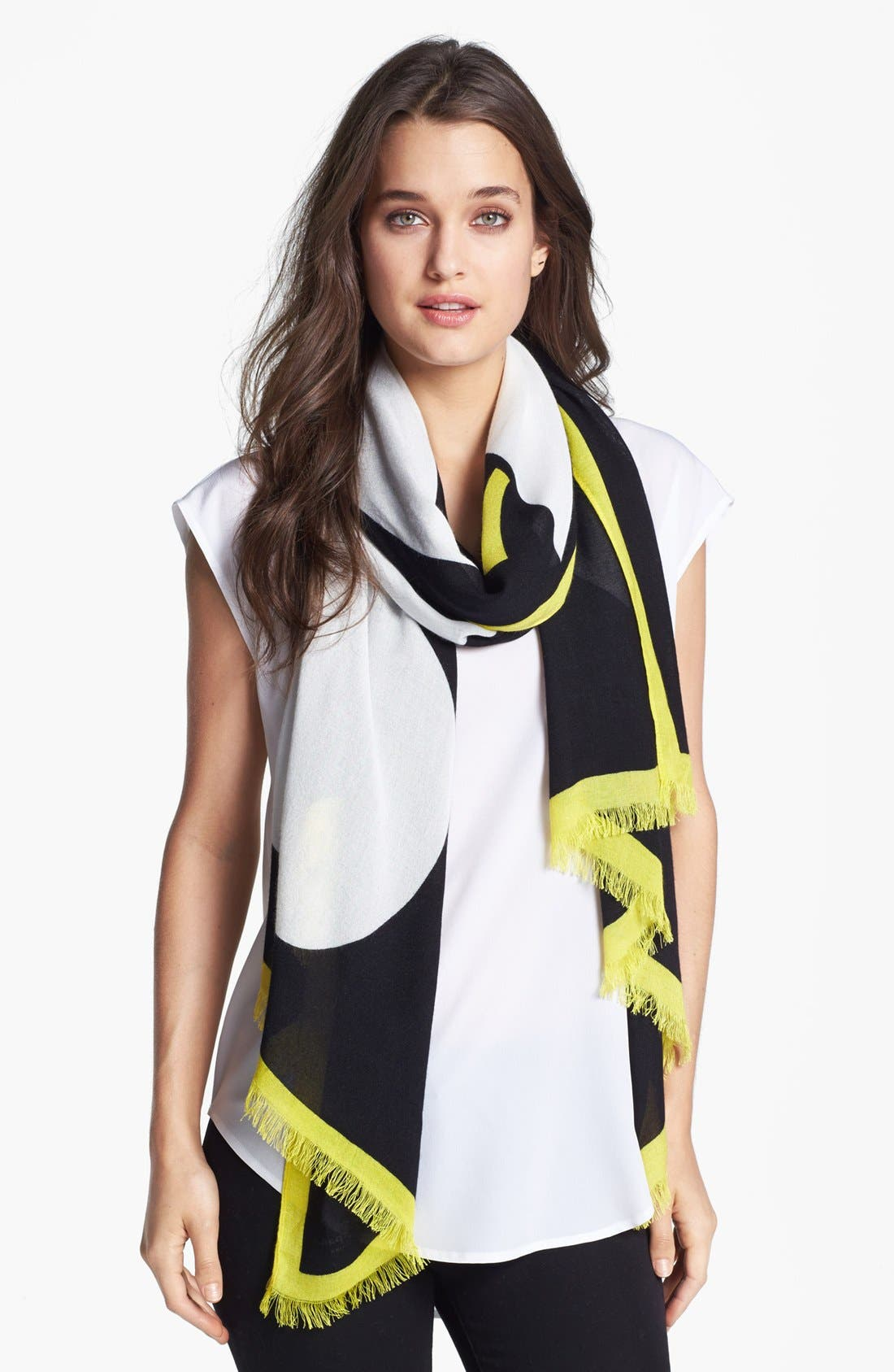 Alternate Image 1 Selected - kate spade new york 'giant apple' scarf