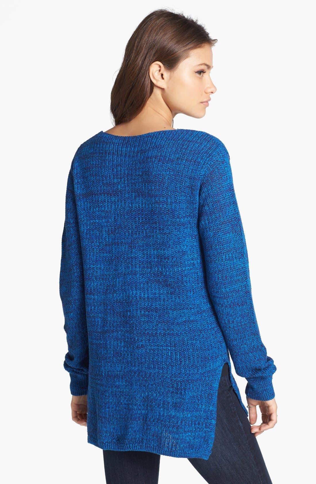 Alternate Image 2  - BP. Side Slit Marled V-Neck Sweater (Juniors)