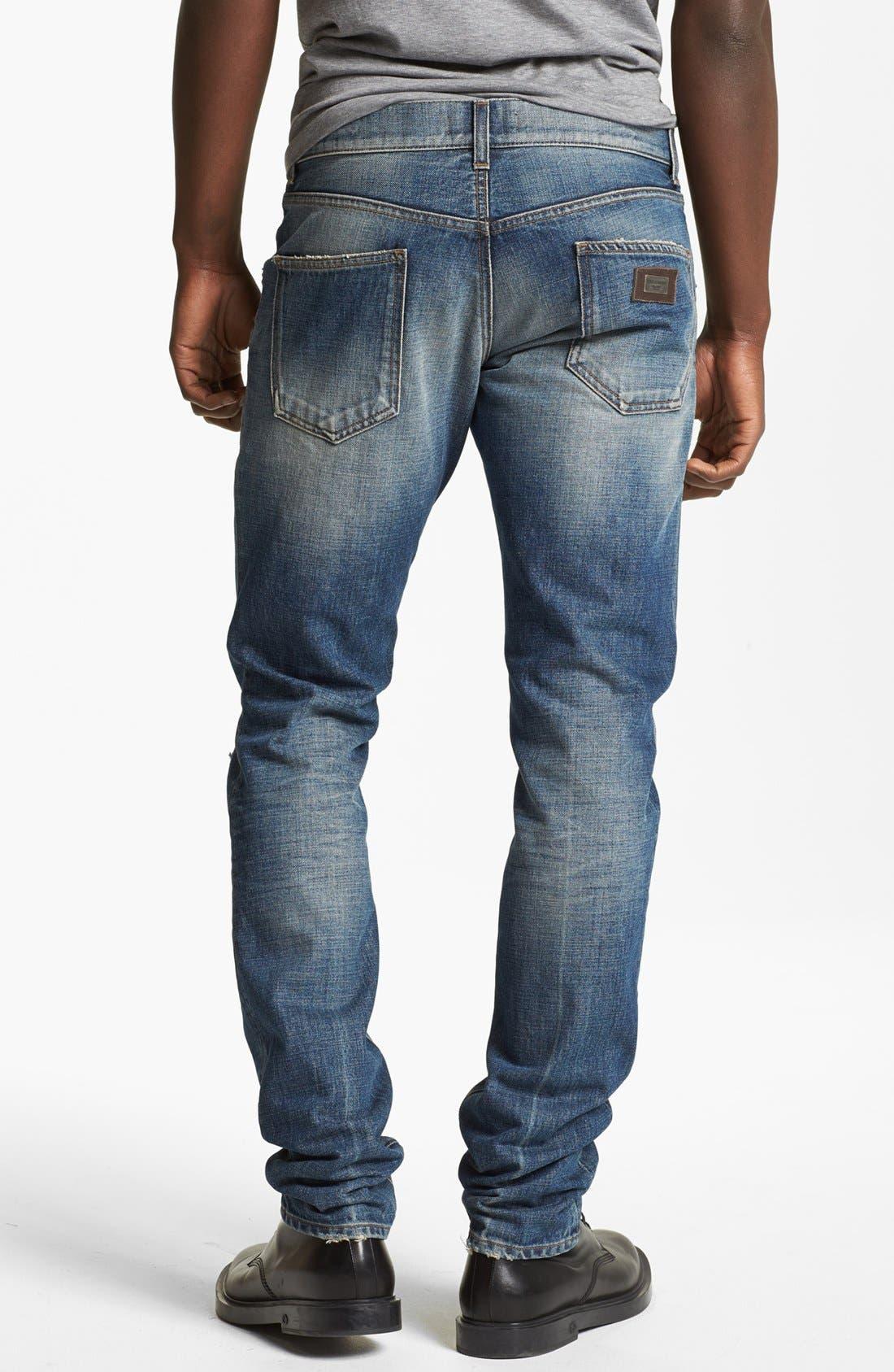 Alternate Image 2  - Dolce&Gabbana Slim Fit Jeans (Light Blue)