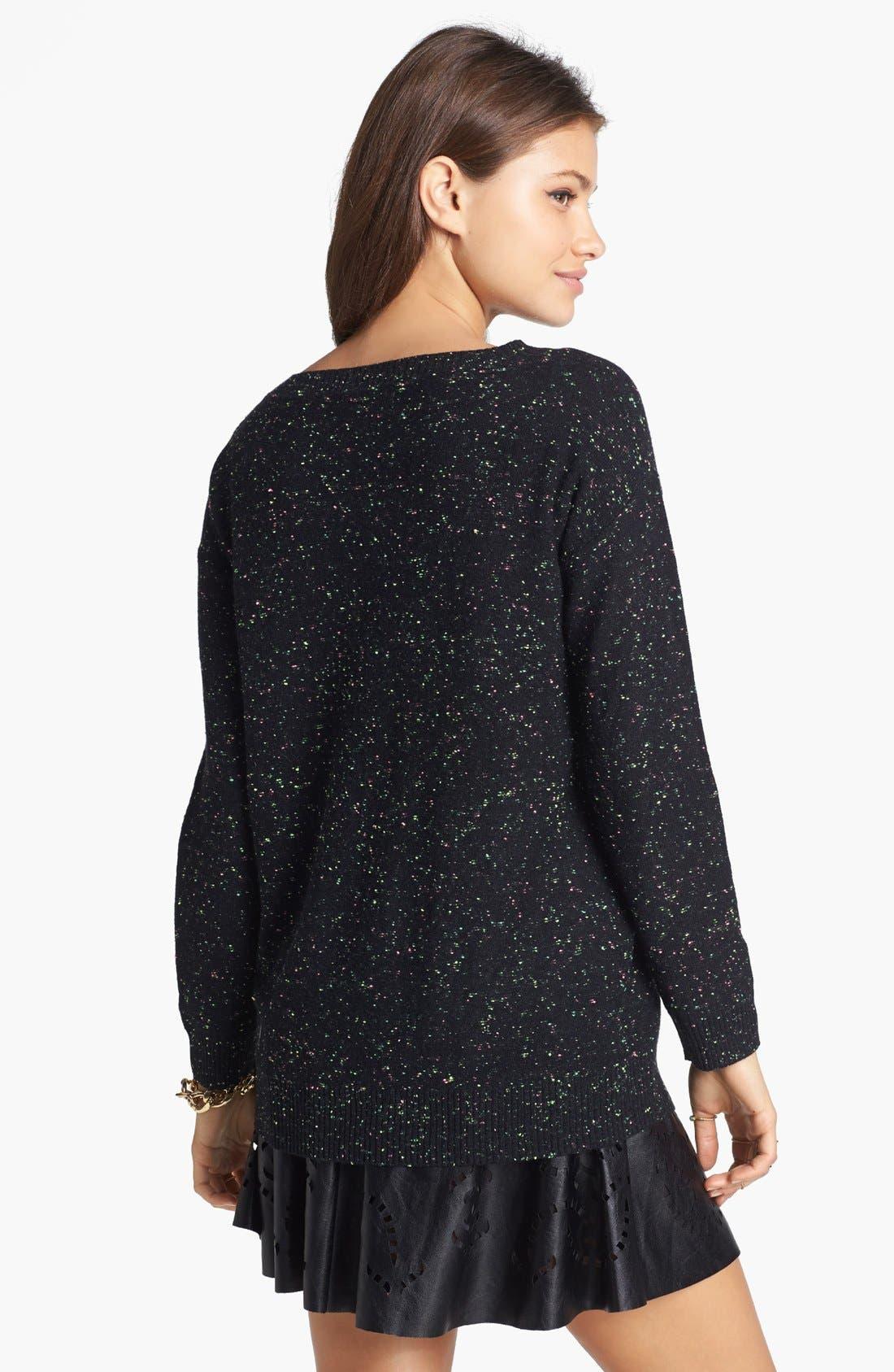 Alternate Image 2  - Rubbish® Flecked Sweater (Juniors)