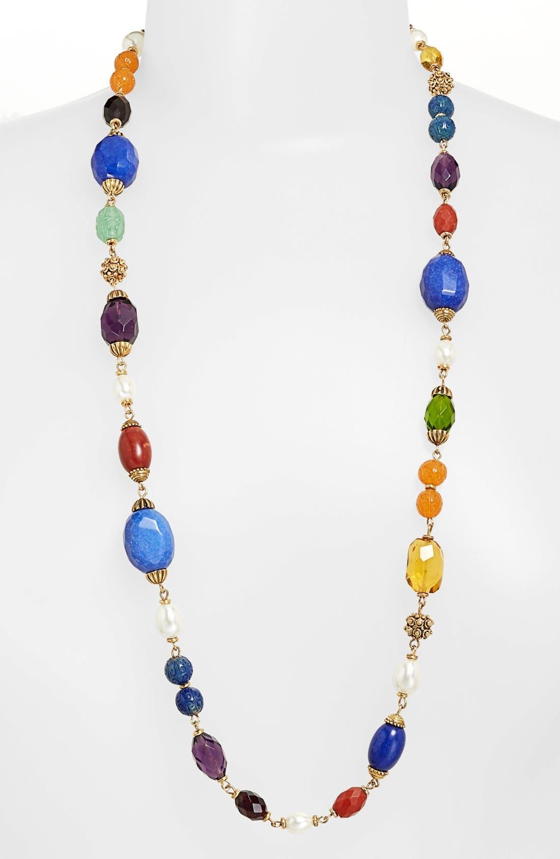 Alternate Image 1 Selected - Lauren Ralph Lauren Long Beaded Necklace