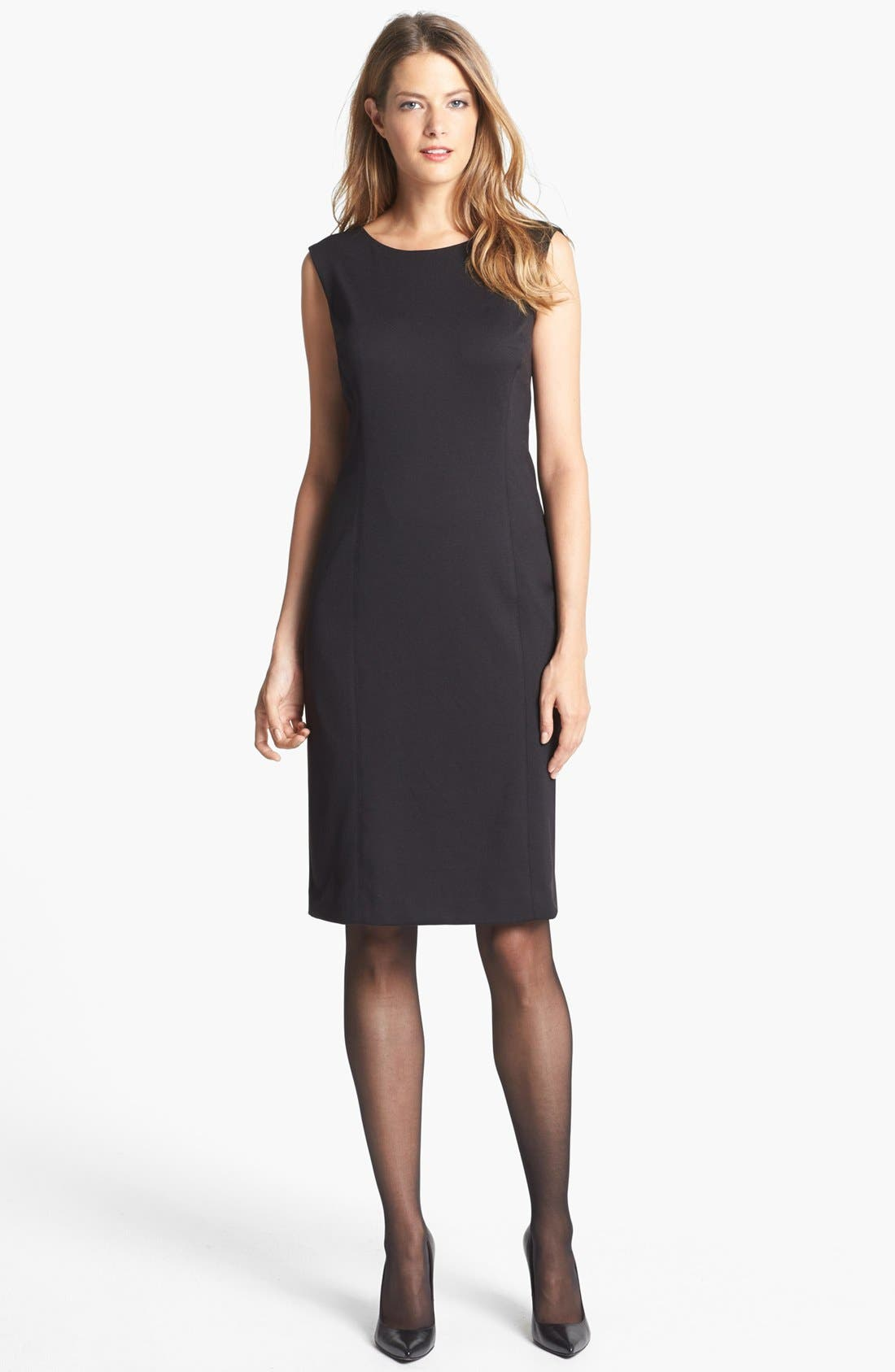 Main Image - Jones New York 'Mallory' Ponte Sheath Dress