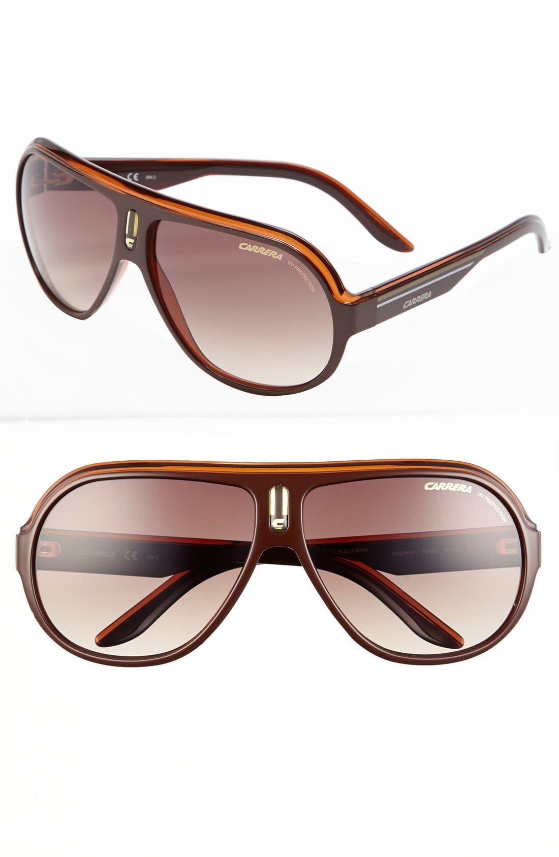 Alternate Image 1 Selected - Carrera Eyewear 'Speedway' 63mm Aviator Sunglasses