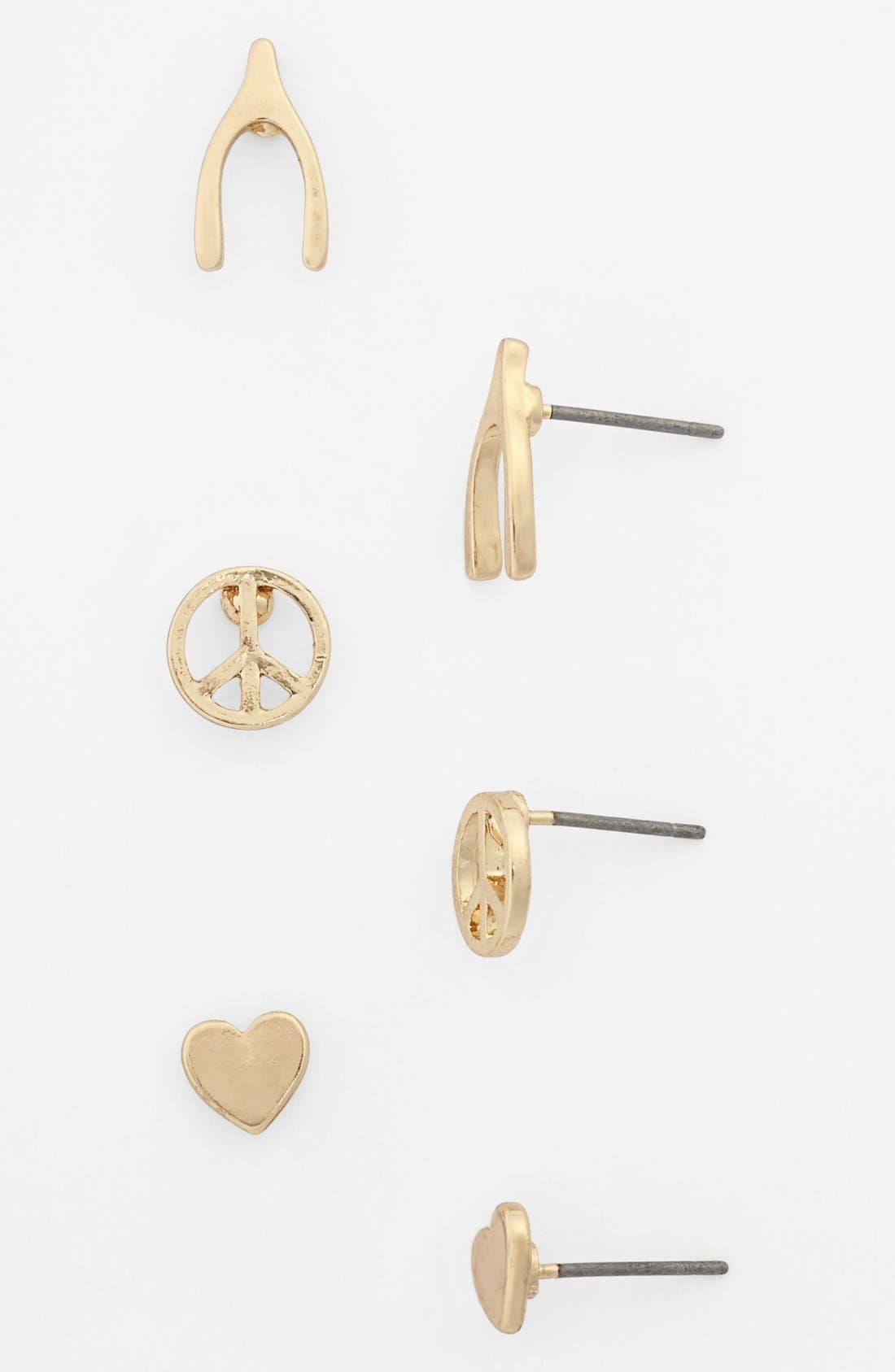 Alternate Image 1 Selected - BP. Stud Earrings (Set of 3) (Juniors)