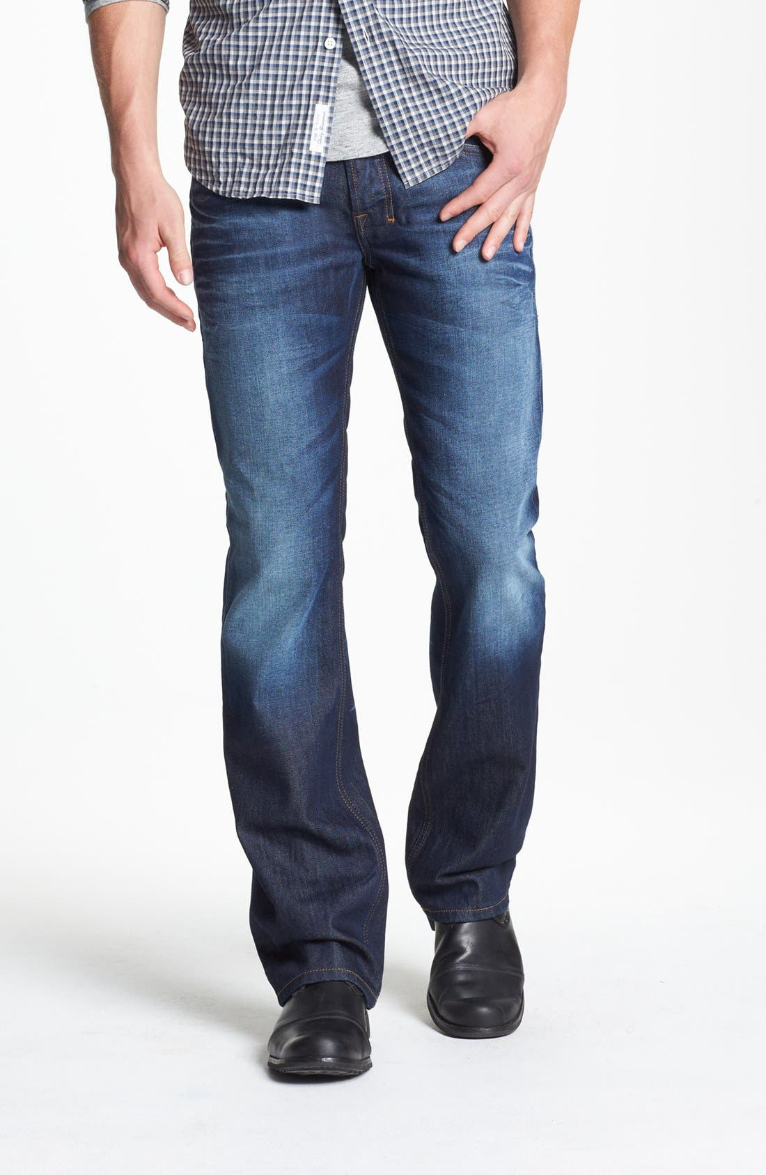 Alternate Image 1 Selected - DIESEL® 'Zatiny' Micro Bootcut Jeans (73N)